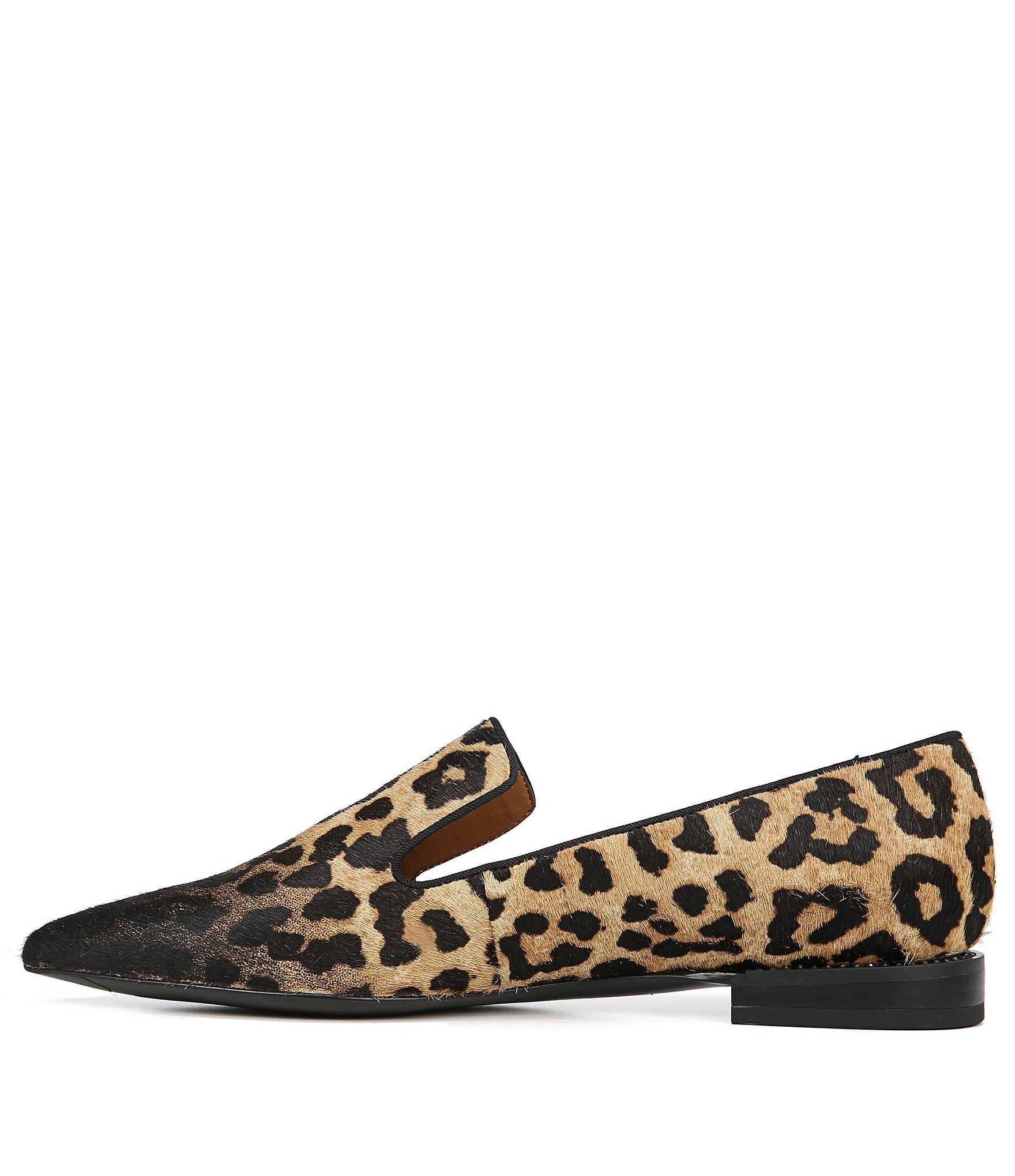 4f285f9f771 Lyst - Franco Sarto Sarto By Topaz 2 Leopard Print Calf Hair Loafers