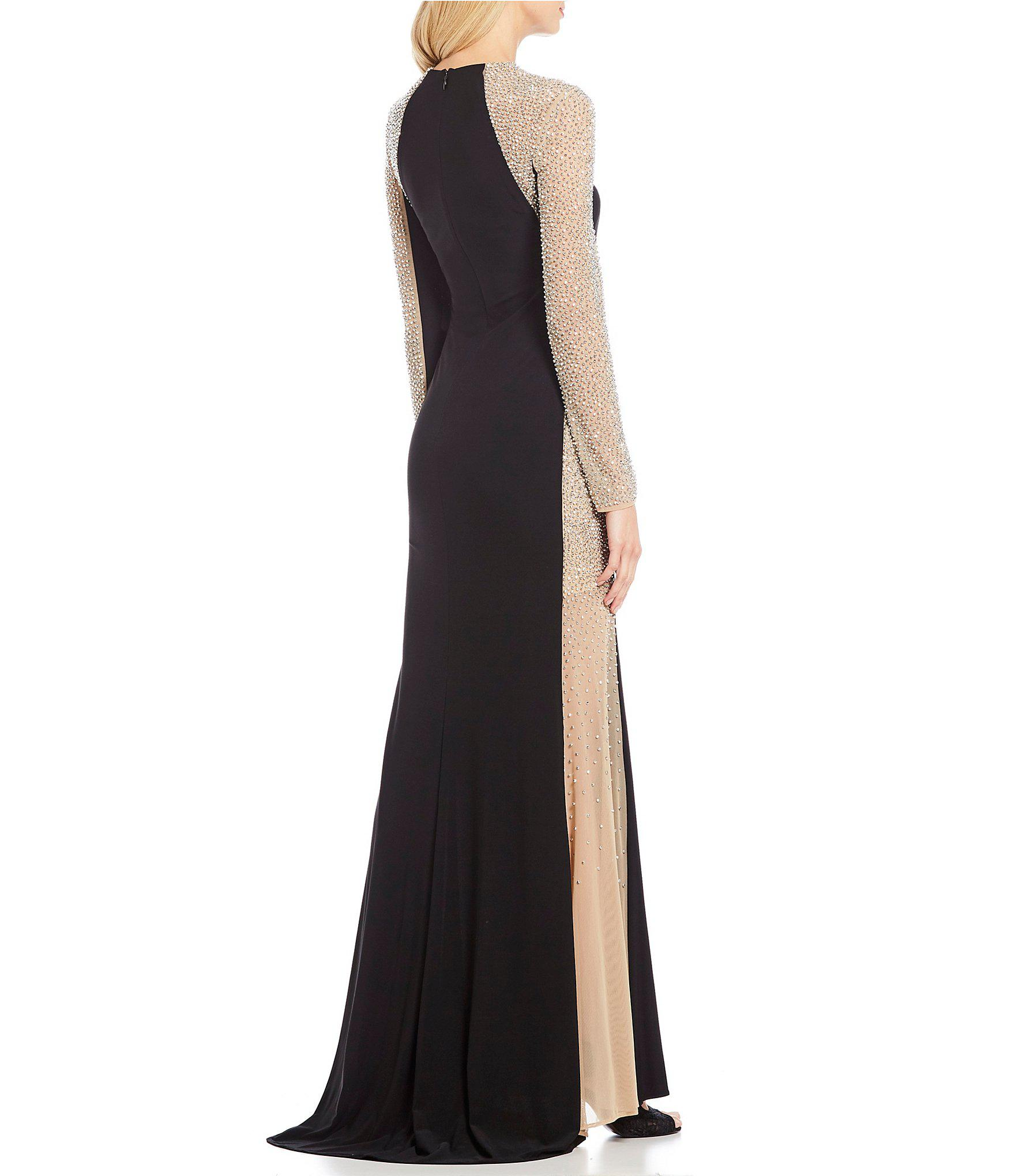 a7066f8bf6ce9 Xscape Trendy Plus Size Beaded Illusion Gown in Black - Save 26% - Lyst