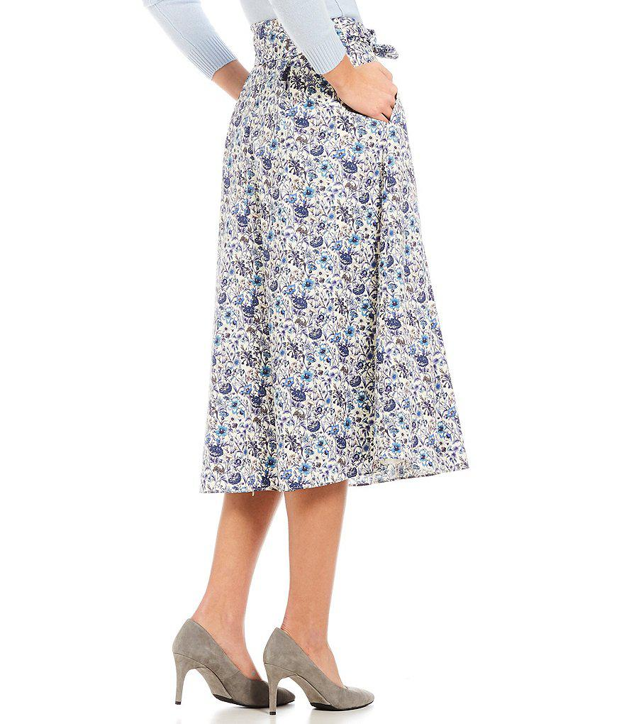 c9262e5a71b Antonio Melani Charlotte Skirt Made With Liberty Fabrics in Blue - Lyst
