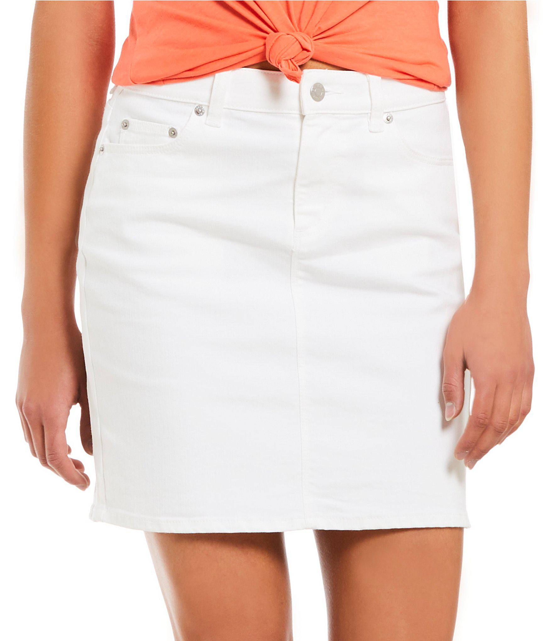 7496a33543e1 Cremieux Bethany Denim Skirt in White - Lyst