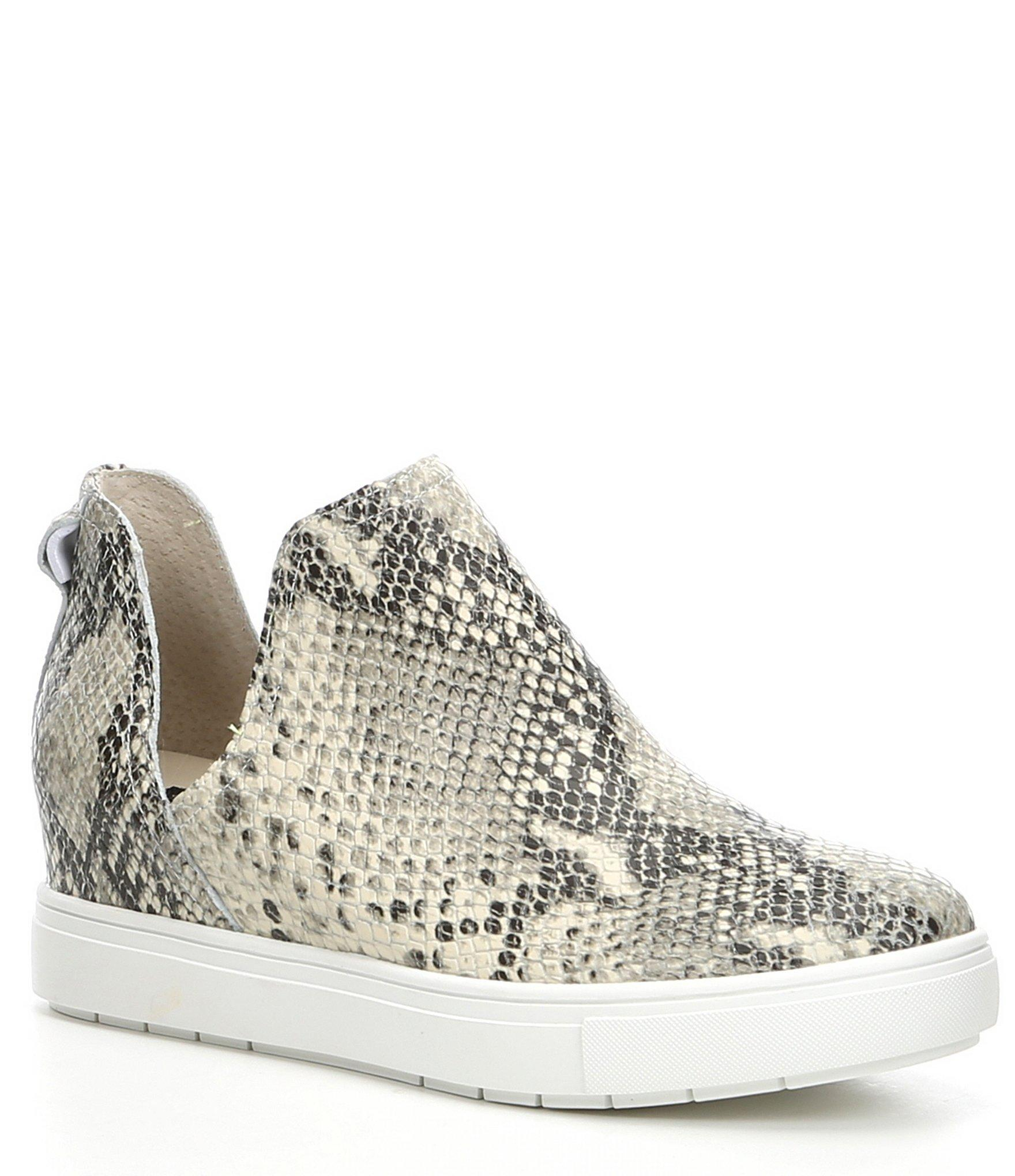 63081cc12 Steve Madden Steven By Canares Snake-print Leather Sneakers in White ...