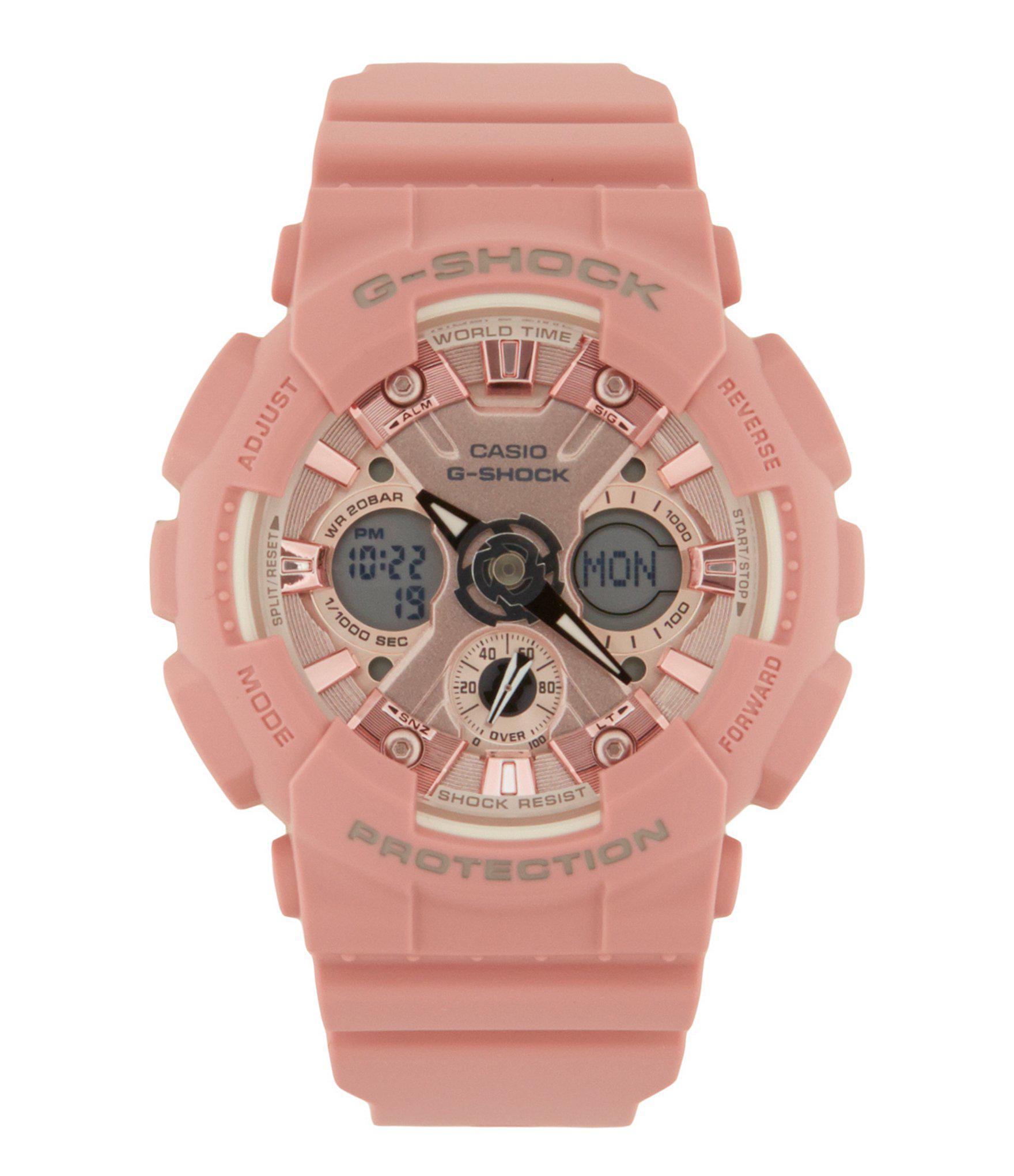 e6c82d71f G-Shock S Series Pastel Rose Pink Ana/digi Watch. View fullscreen