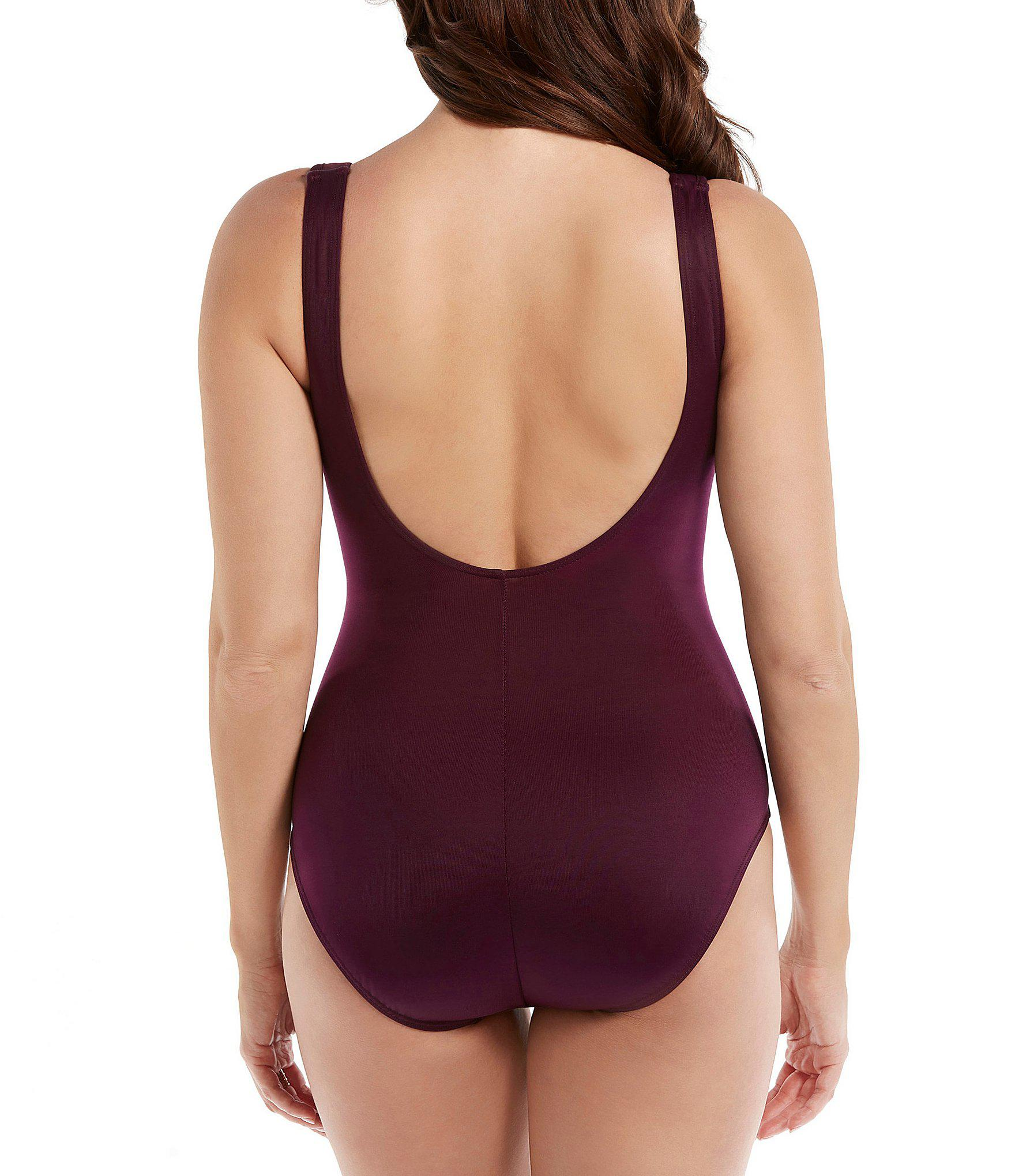 a3d3c5043645c Miraclesuit - Purple Must Have Escape Underwire Tummy Control One Piece  Swimsuit - Lyst. View fullscreen