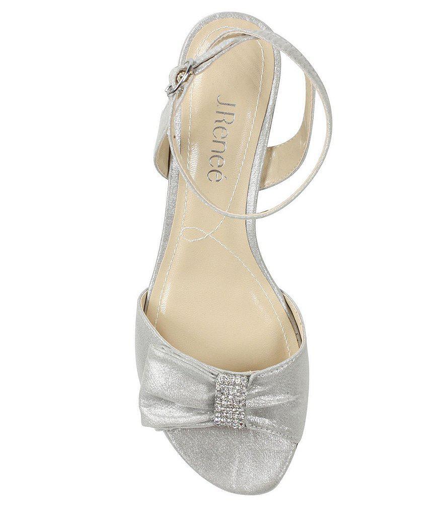 Davet Satin Rhinestone Bow Dress Sandals tV7Fu