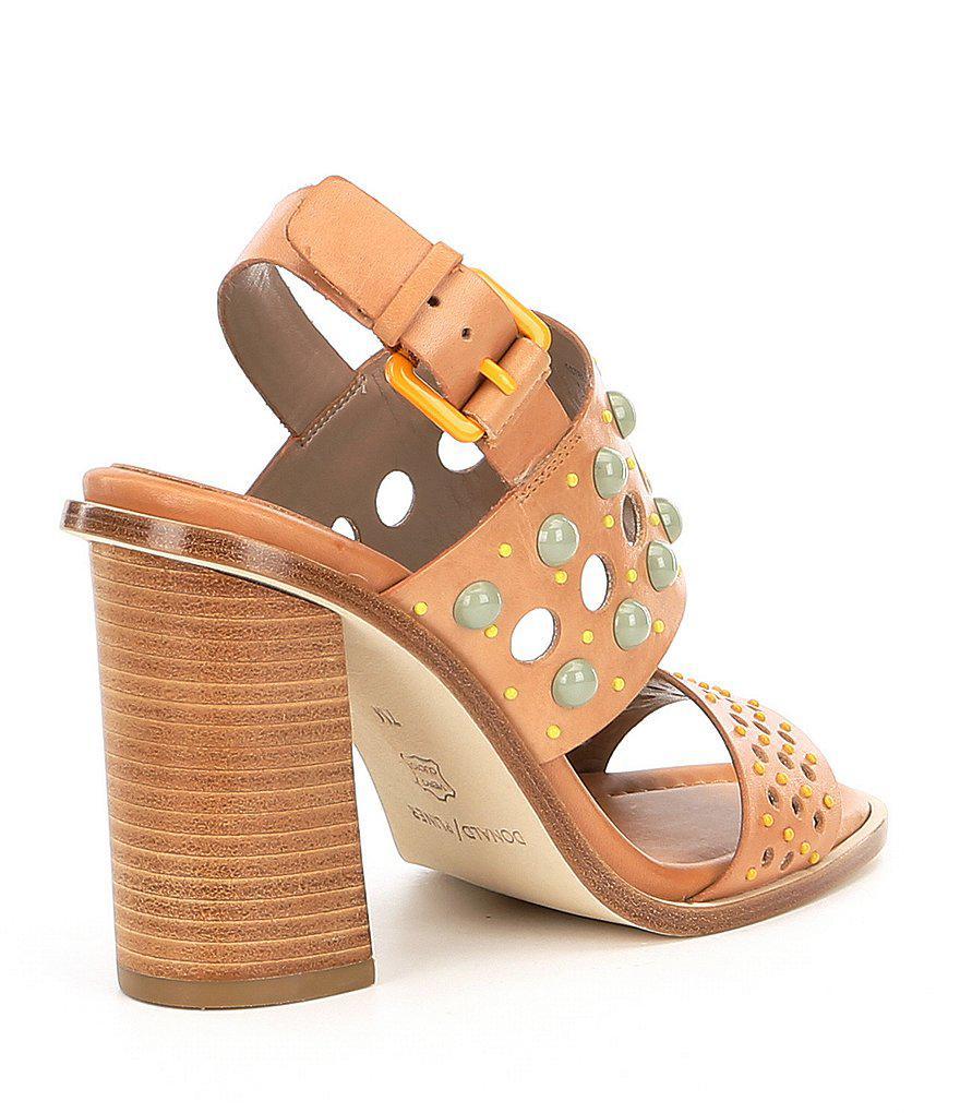 Donald Pliner Estee Colored Stud Detail Slingback Dress Sandals vAEQFgkpS