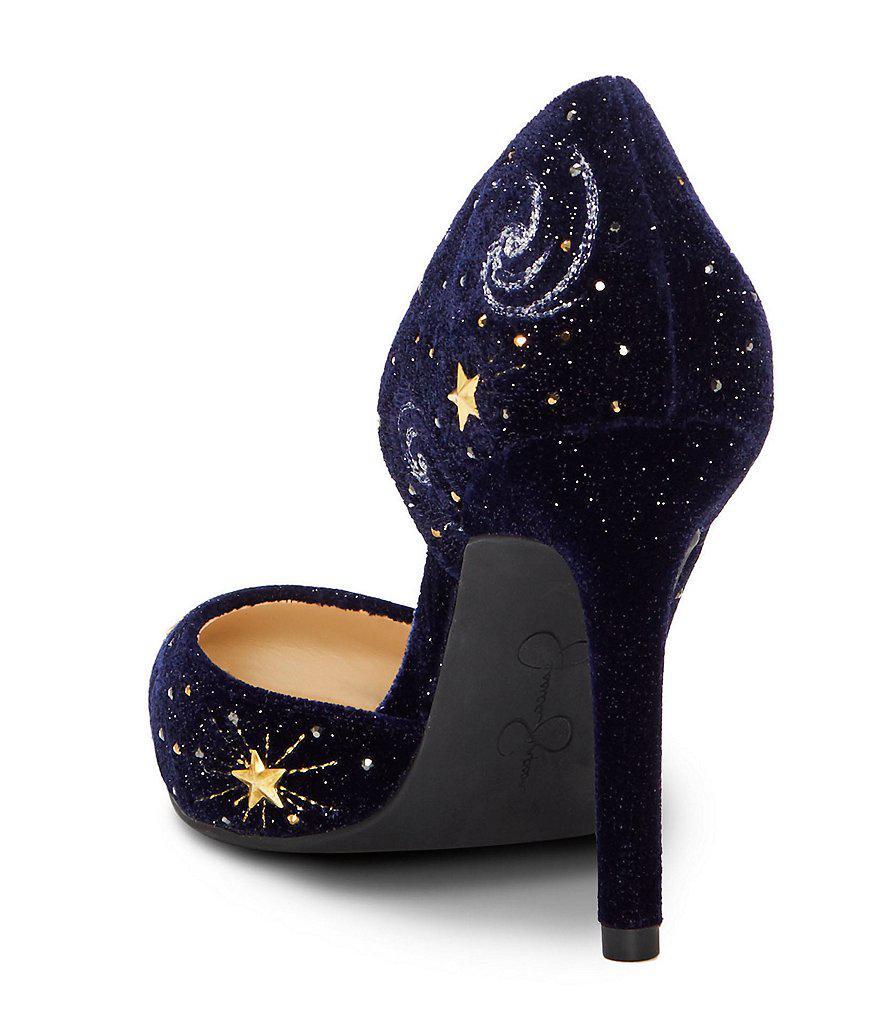 Celestial Lucina4 Velvet Jeweled Pumps 6JrxFNAnrd
