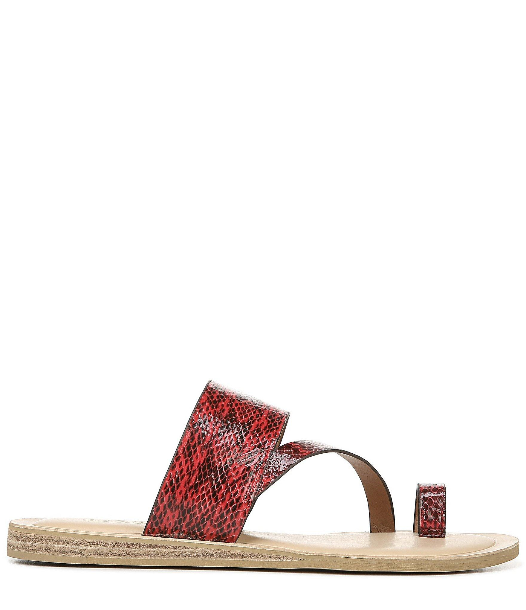 a1a58e880 Franco Sarto - Red Sarto By Leila Snake Print Leather Toe Ring Sandals -  Lyst. View fullscreen