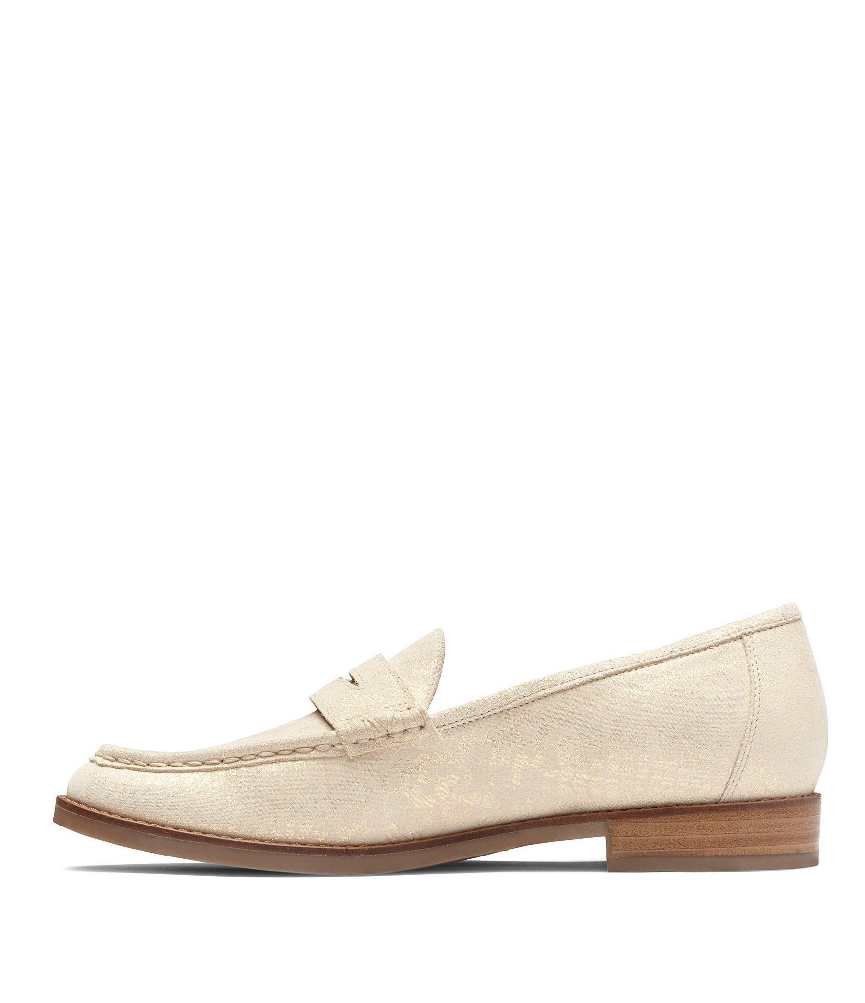 e0b595b9024 Vionic - Metallic Waverly Leather Penny Loafers - Lyst. View fullscreen