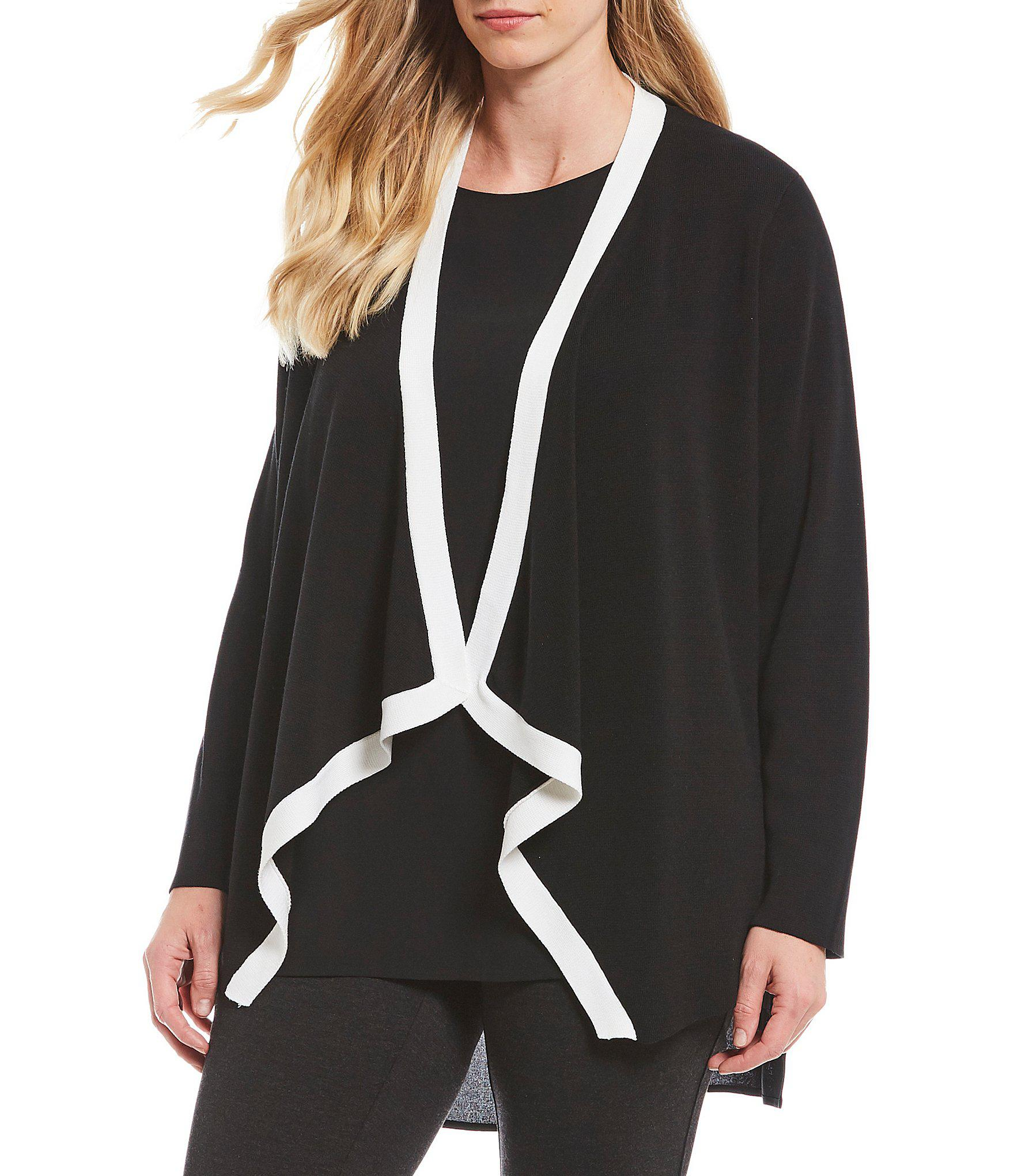 882d93eef40 Lyst - Eileen Fisher Plus Size Angled Front Jacket in Black