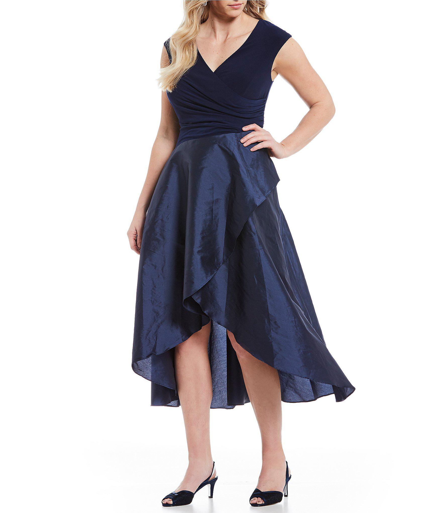f715a53318e Lyst - Adrianna Papell Plus Size Surplice Cap Sleeve Hi-low Dress in ...