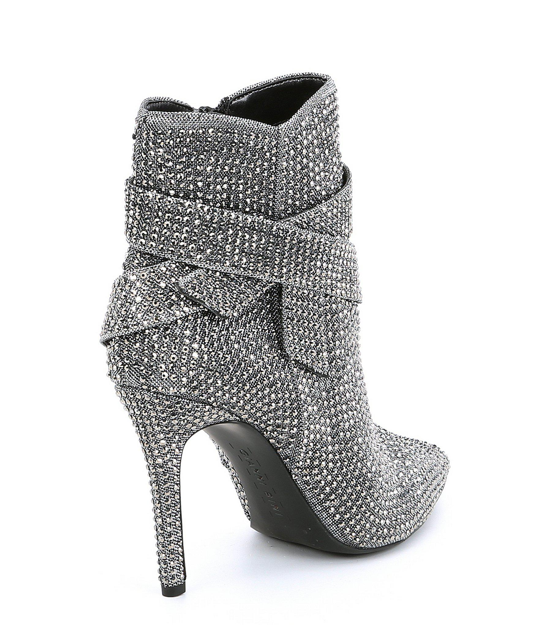 1ef6d2df377 Gianni Bini Gray Vinya Jeweled Bow Dress Booties