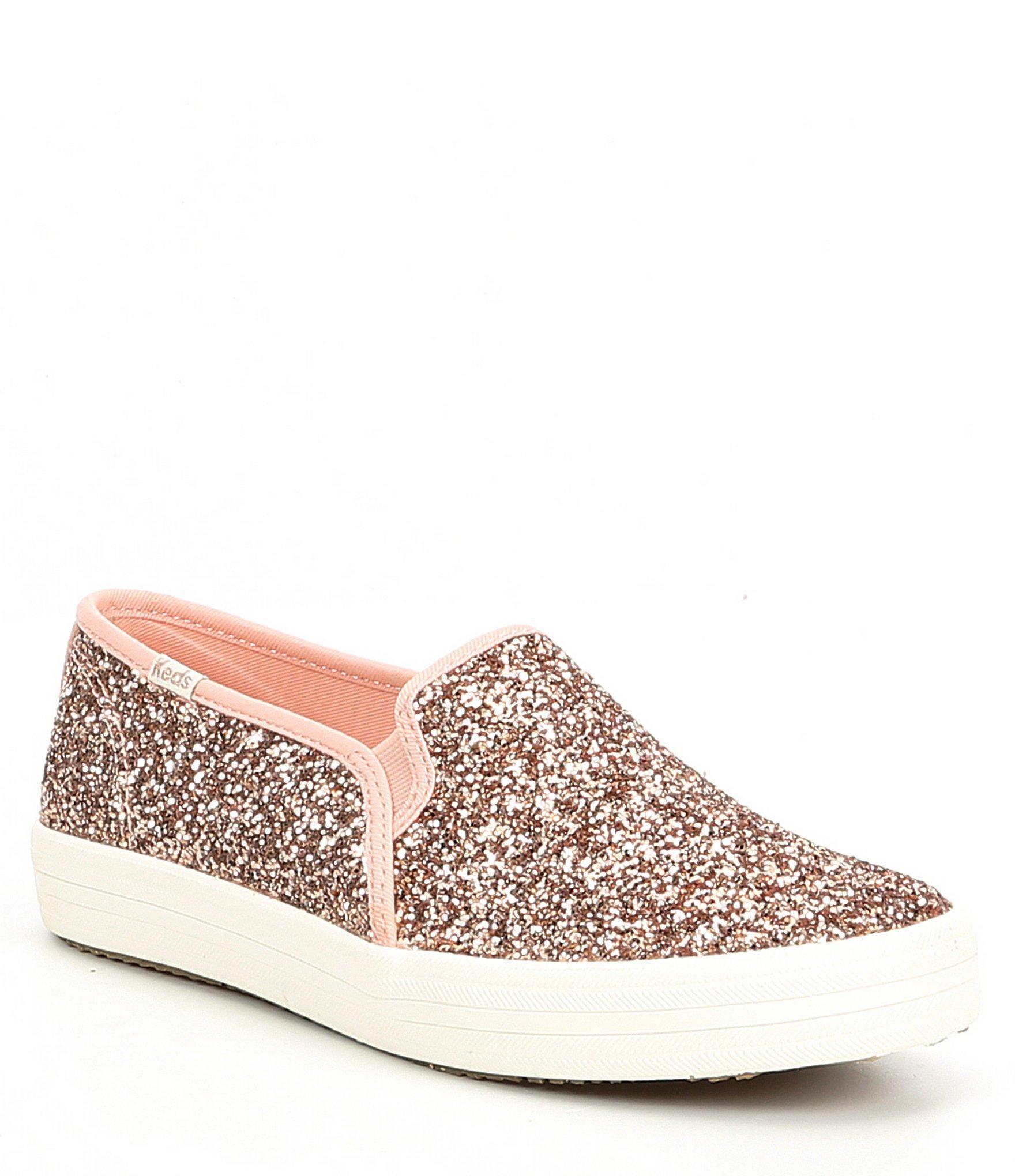 61714dd8c08 Lyst - Kate Spade Keds X Double Decker Glitter Sneakers in Pink