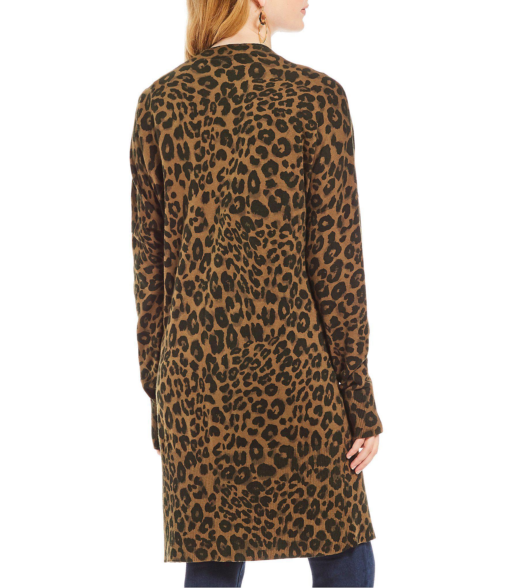 1c9748ec92d Sanctuary - Multicolor Lenox Leopard Print Cardigan - Lyst. View fullscreen