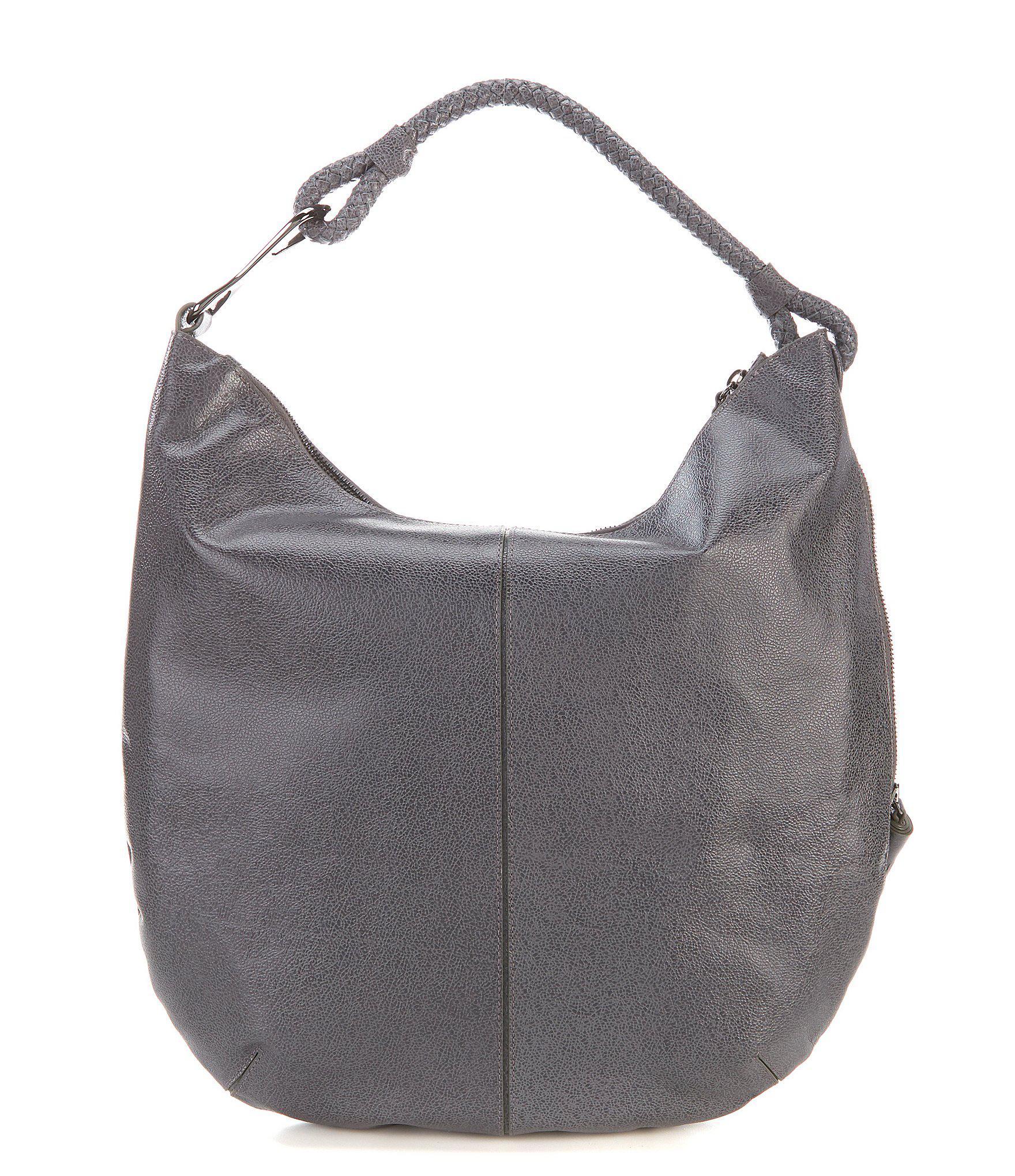 b5aa976925 Lyst - Halston Elsa Large Tassel Hobo Bag in Gray