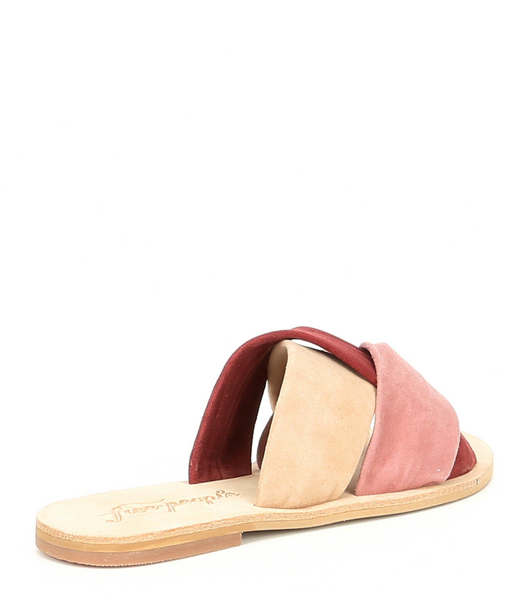 316c7656a4e2 Free People - Pink Rio Vista Suede Slide Sandals - Lyst. View fullscreen