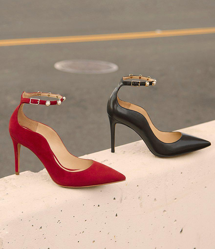 Vince Camuto Jassita Jeweled Ankle Strap Pump 4CO45JIN