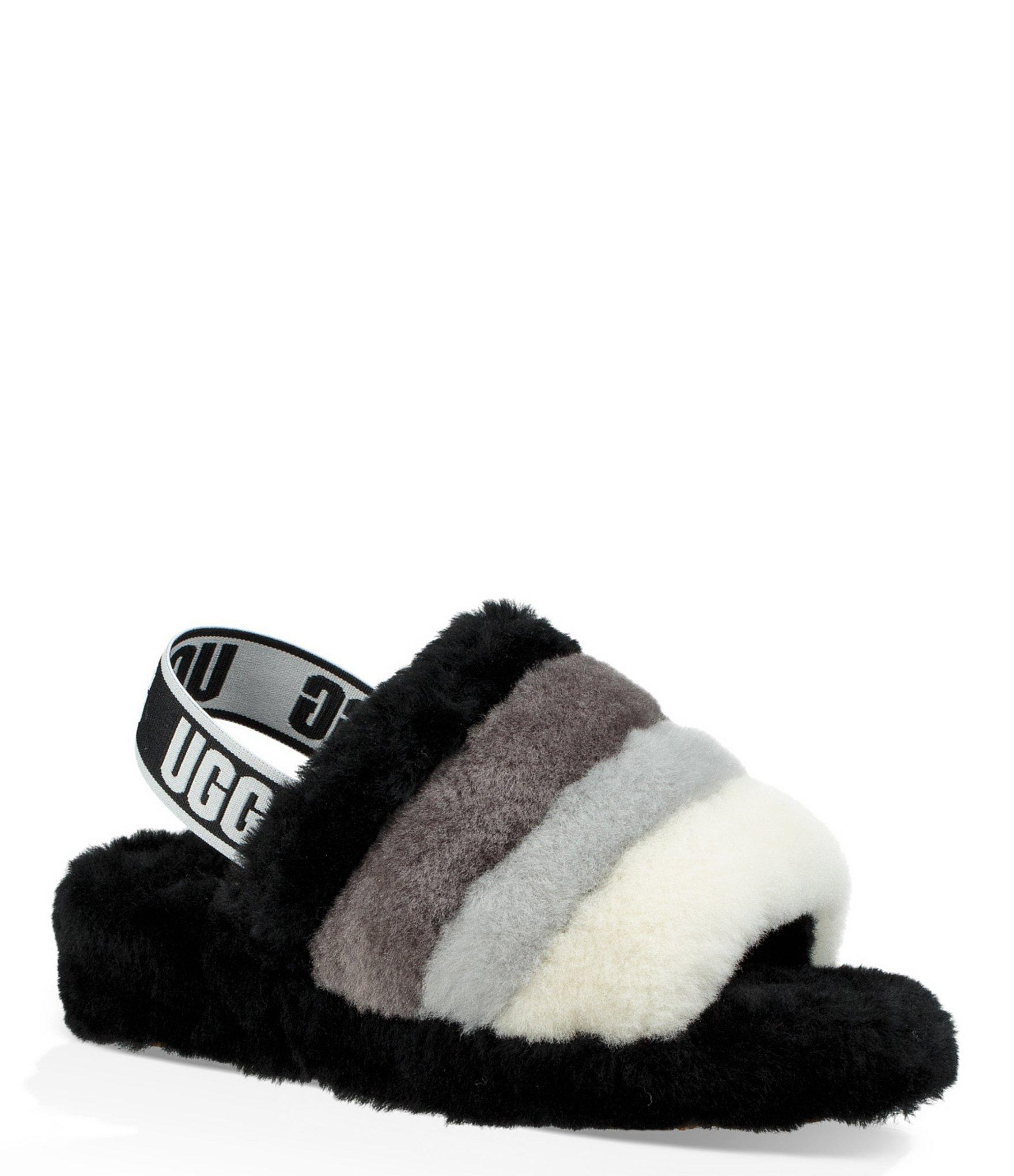 bda7d3d5e1f Women's Black Logo Fluff Yeah Multi-color Slides