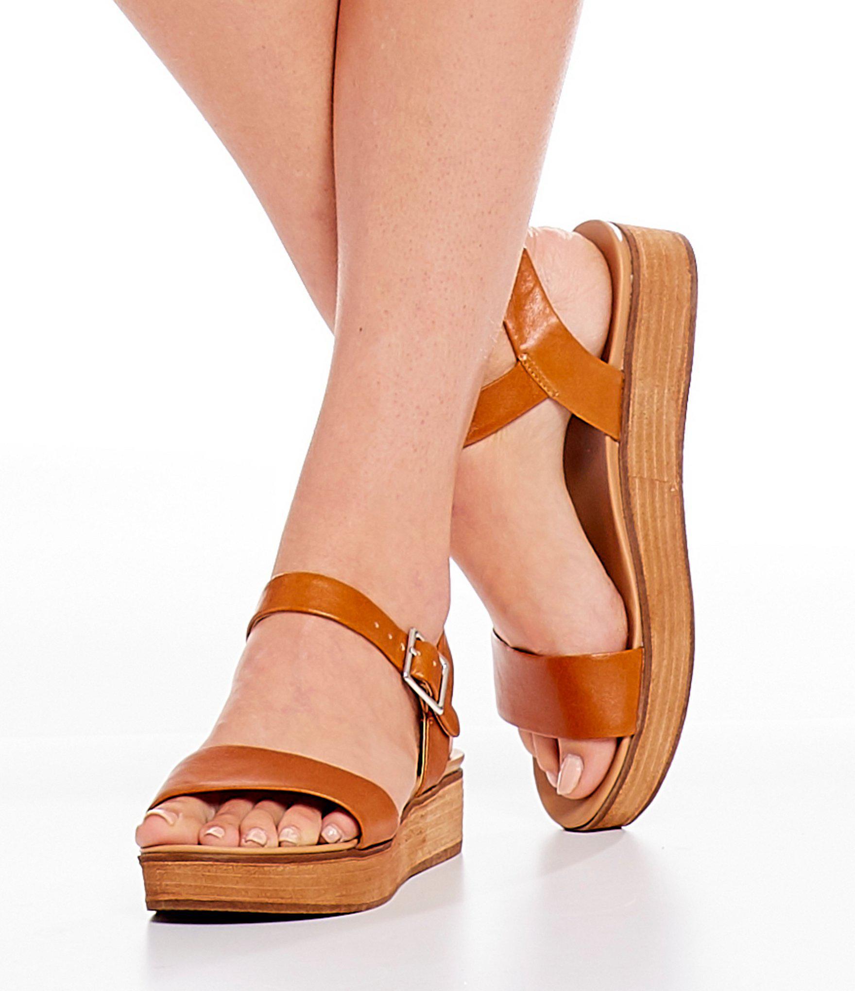 3039a6c29f6 Steve Madden Brown Aida Platform Sandals