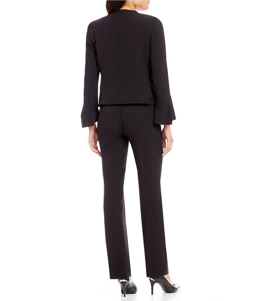 daedf7da56c Tahari Bell-sleeve Crepe Pant Suit in Blue - Lyst