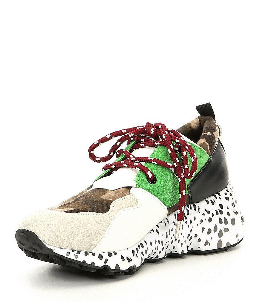 Steve Madden Cliff Multi Wedge Sneakers 0P0wTmc