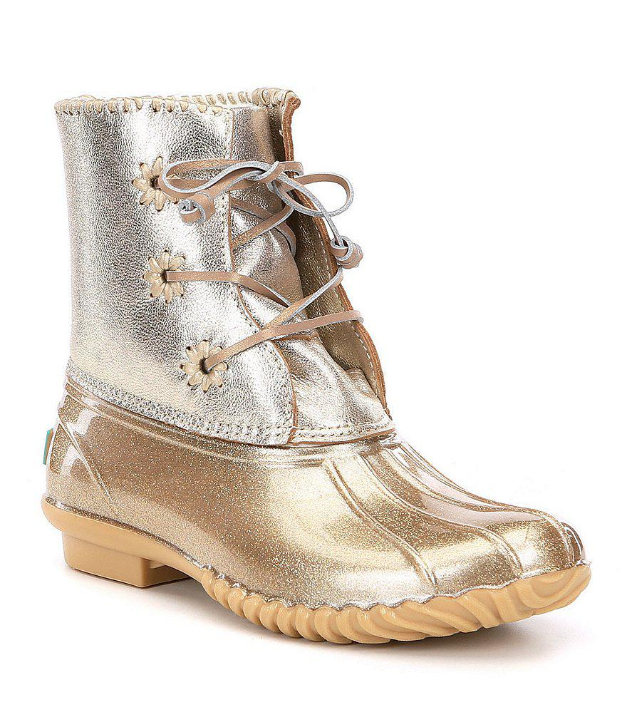 f32f62ef9c3 Jack Rogers Multicolor Chloe Glitter Duck Boots