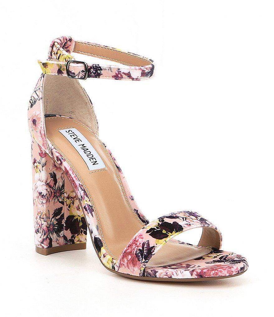 Steve Madden Women/'s Carrson Ankle Strap Block Heeled Sandals