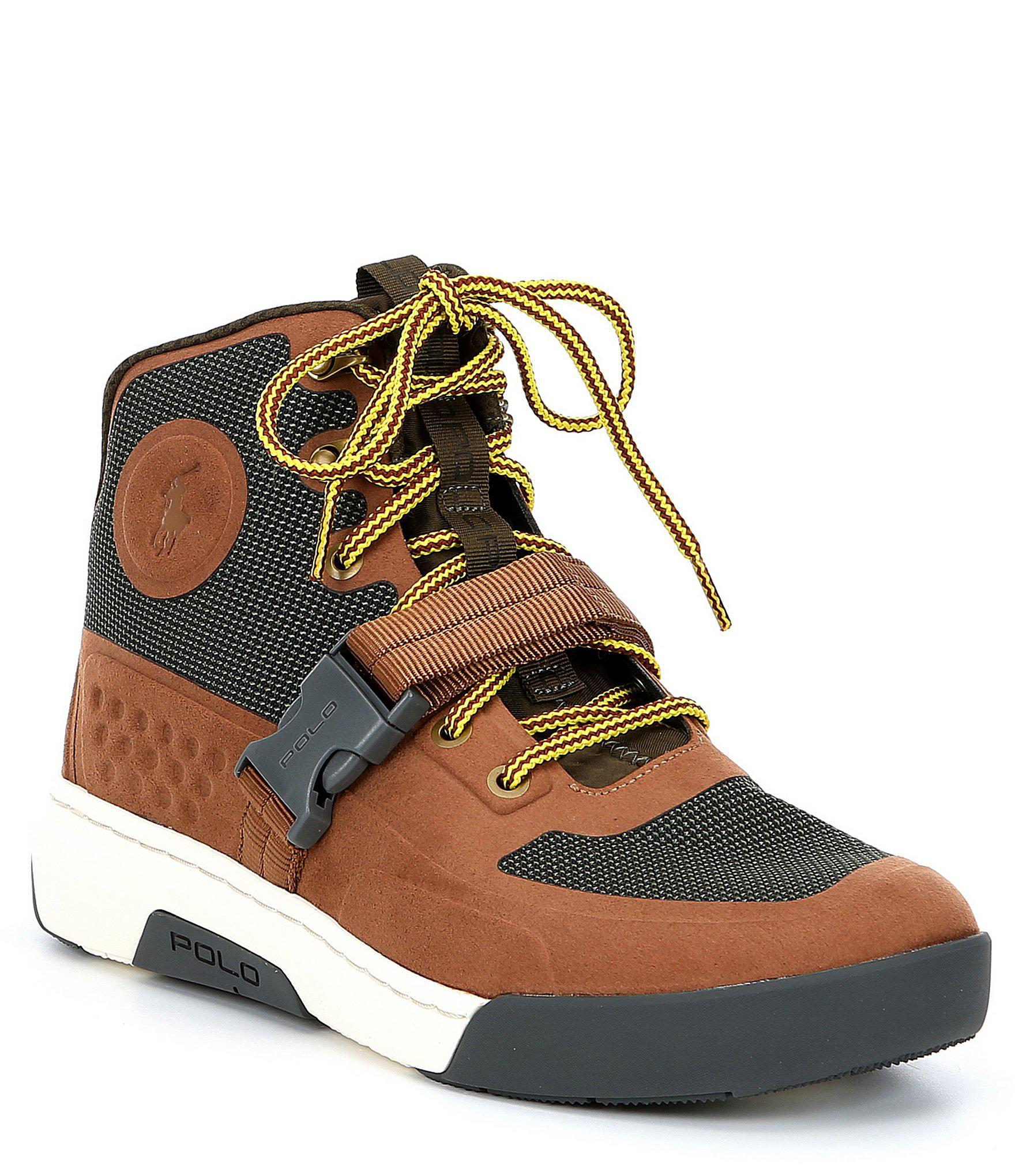 2ce2b2b9eaf Polo Ralph Lauren Multicolor Men's Ranger 200 Leather And Mesh Sneaker Boot  for men