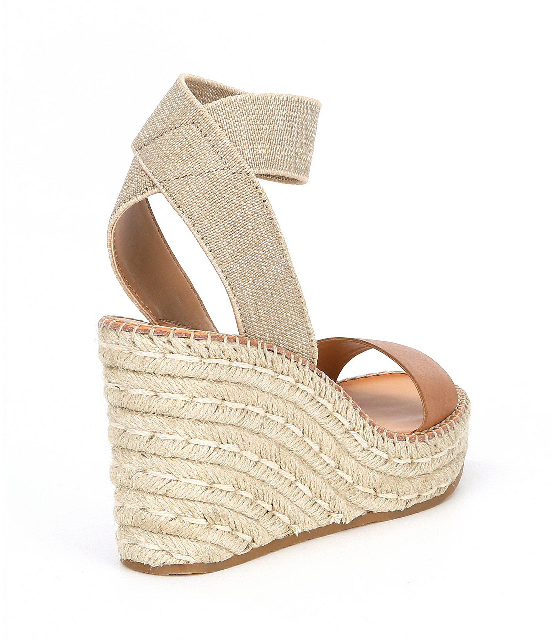 152087f8188 Lyst - Dolce Vita Pavlin Leather Espadrille Wedge Sandals