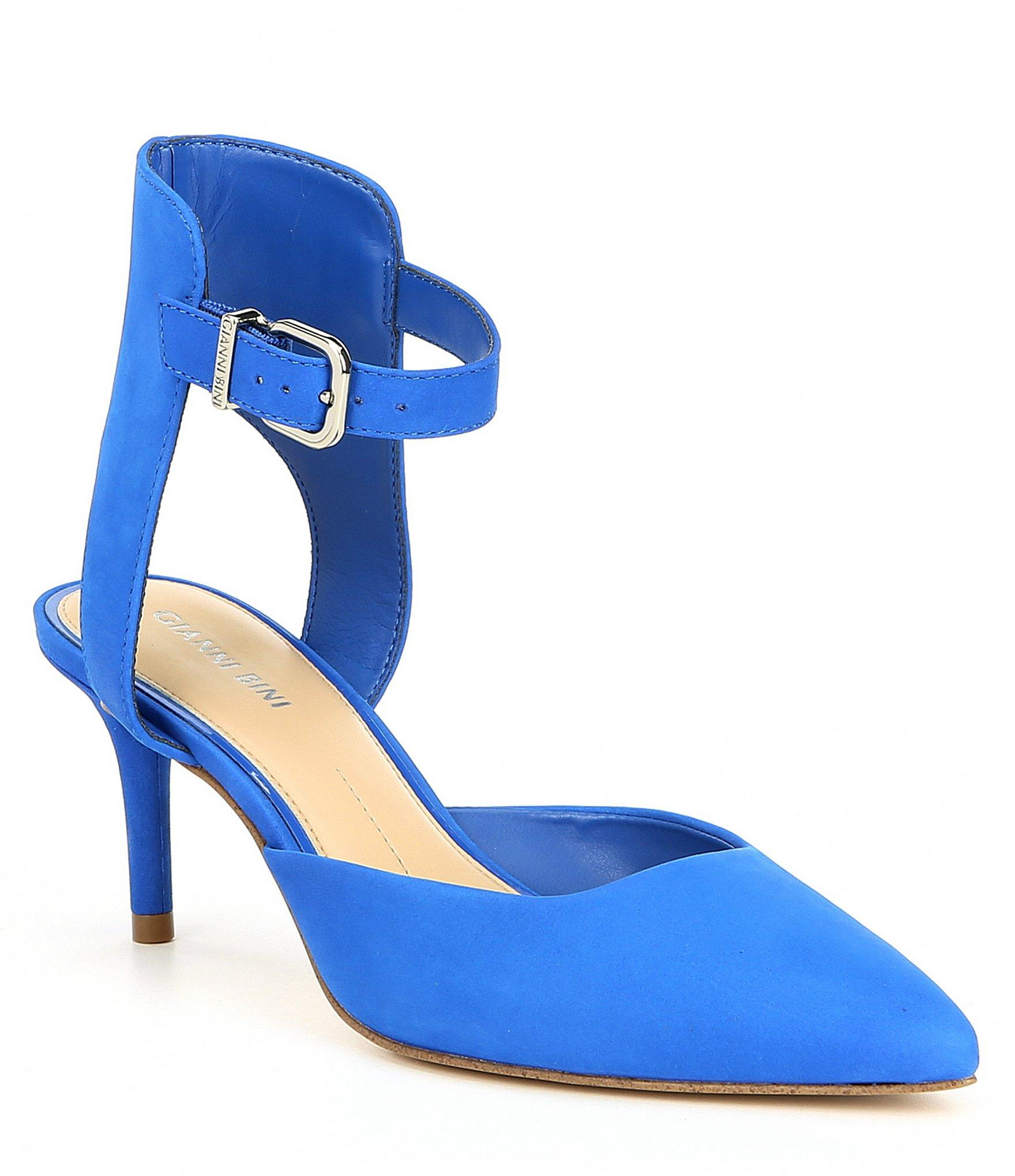 6944e43dbad Lyst - Gianni Bini Myrabelle Nubuck Leather Two-piece Pumps in Blue