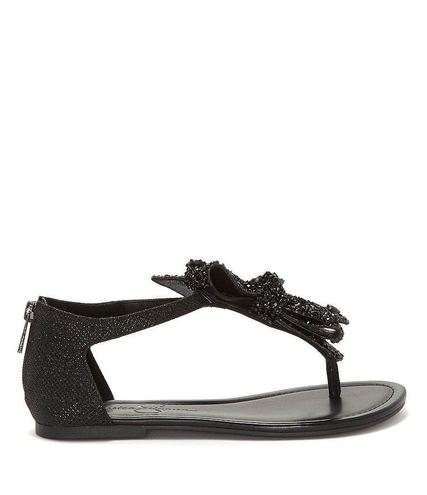 Kellise Rhinestone Bow Sandals z6XQQJPX