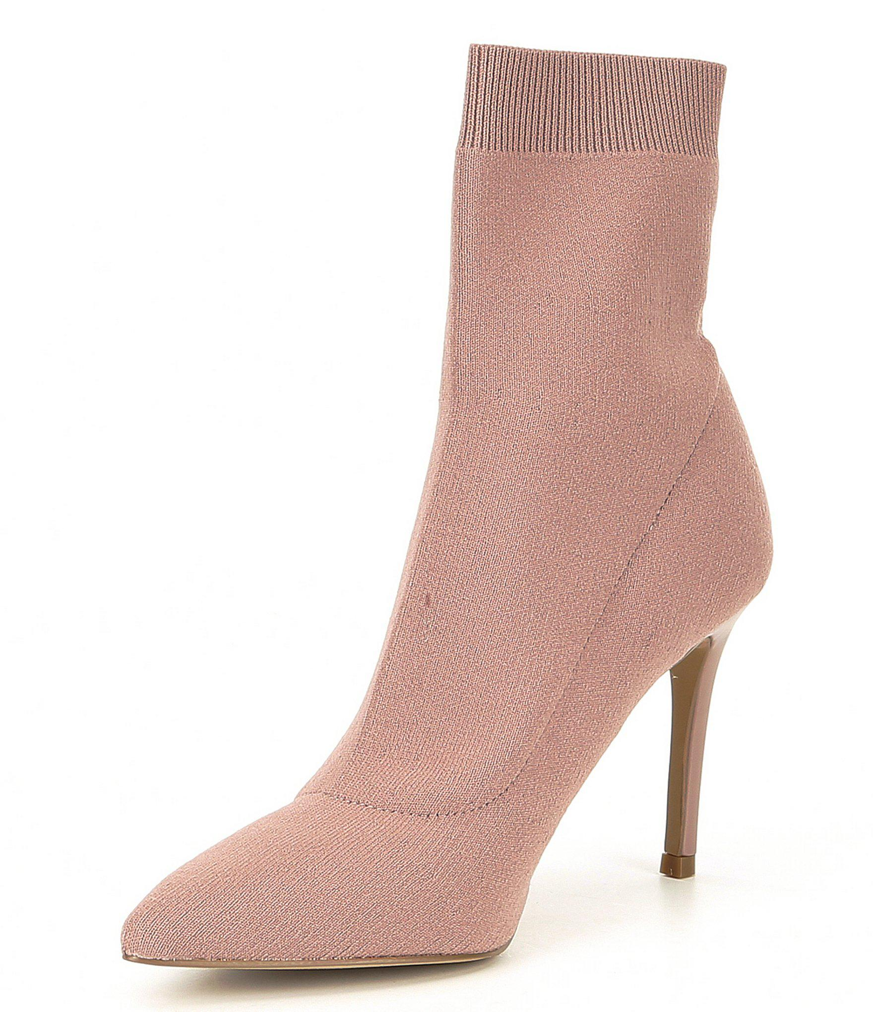 69120fd6dd6 Lyst - Steve Madden Claire Knit Stiletto Booties
