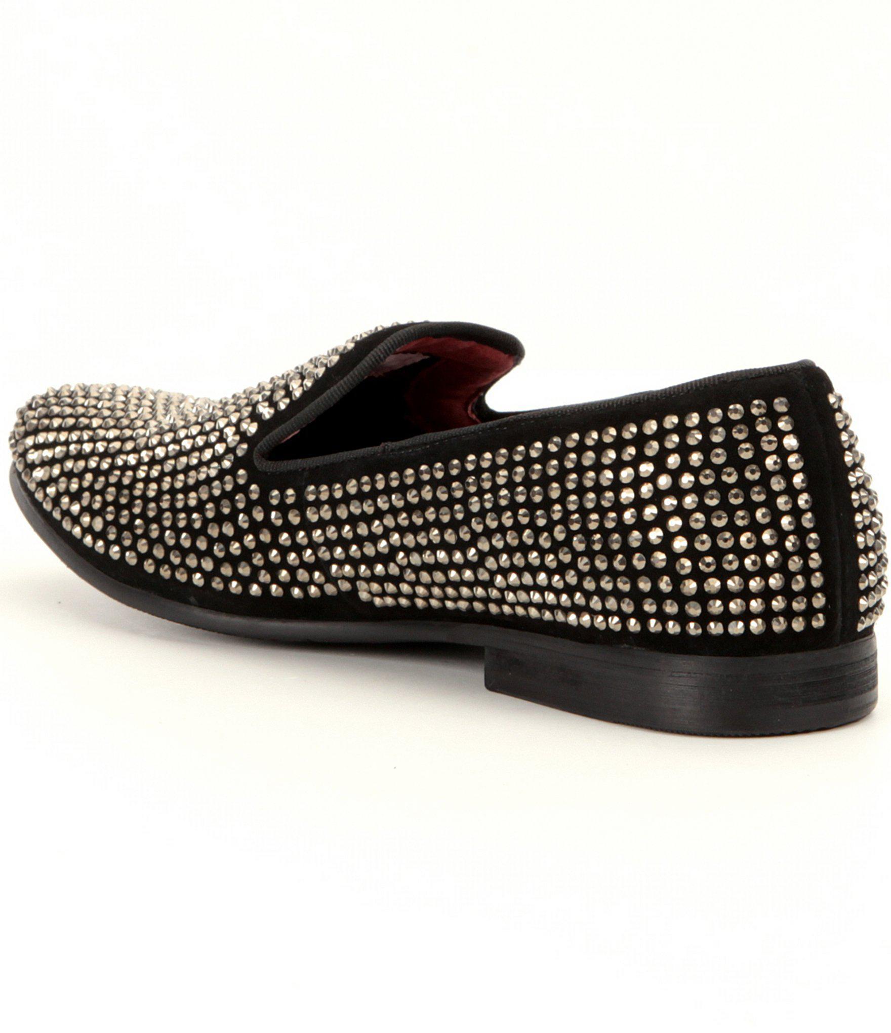 0a2bd0c708f Black Men ́s Caviarr Crystal Embellishment Slip On Loafer