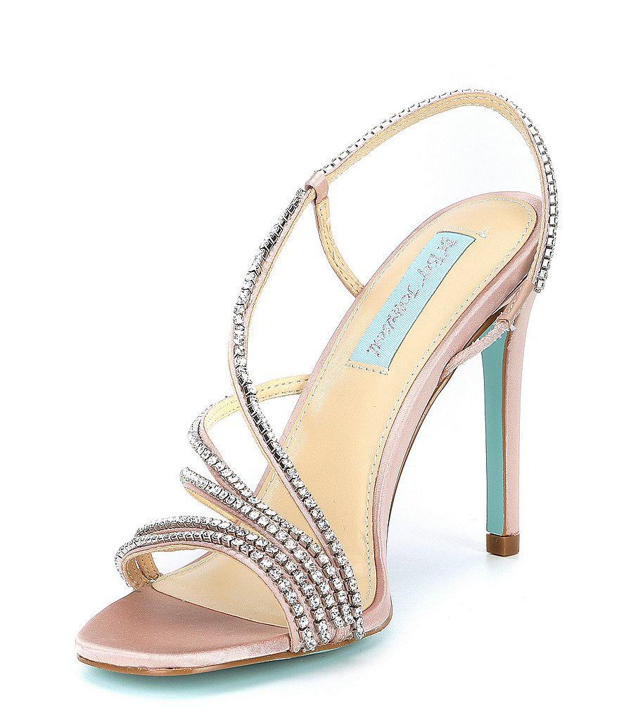 Betsey Johnson Blue by Betsey Johnson Aces Metallic Jeweled Strappy Dress Sandals CV2hsgd
