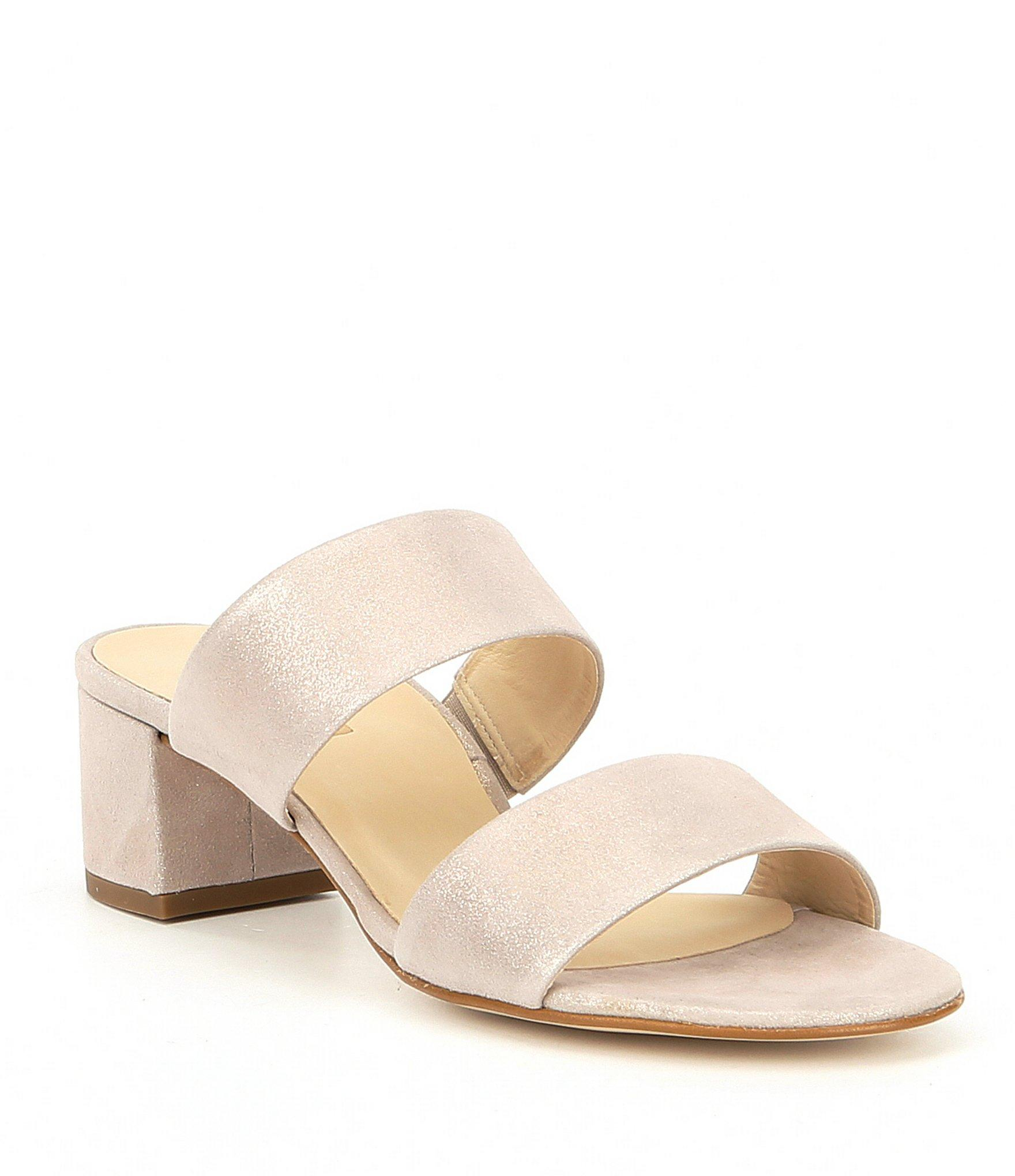 bd35db4c7fb Lyst - Paul Green Meg Suede Block Heel Sandals in Blue - Save 4%