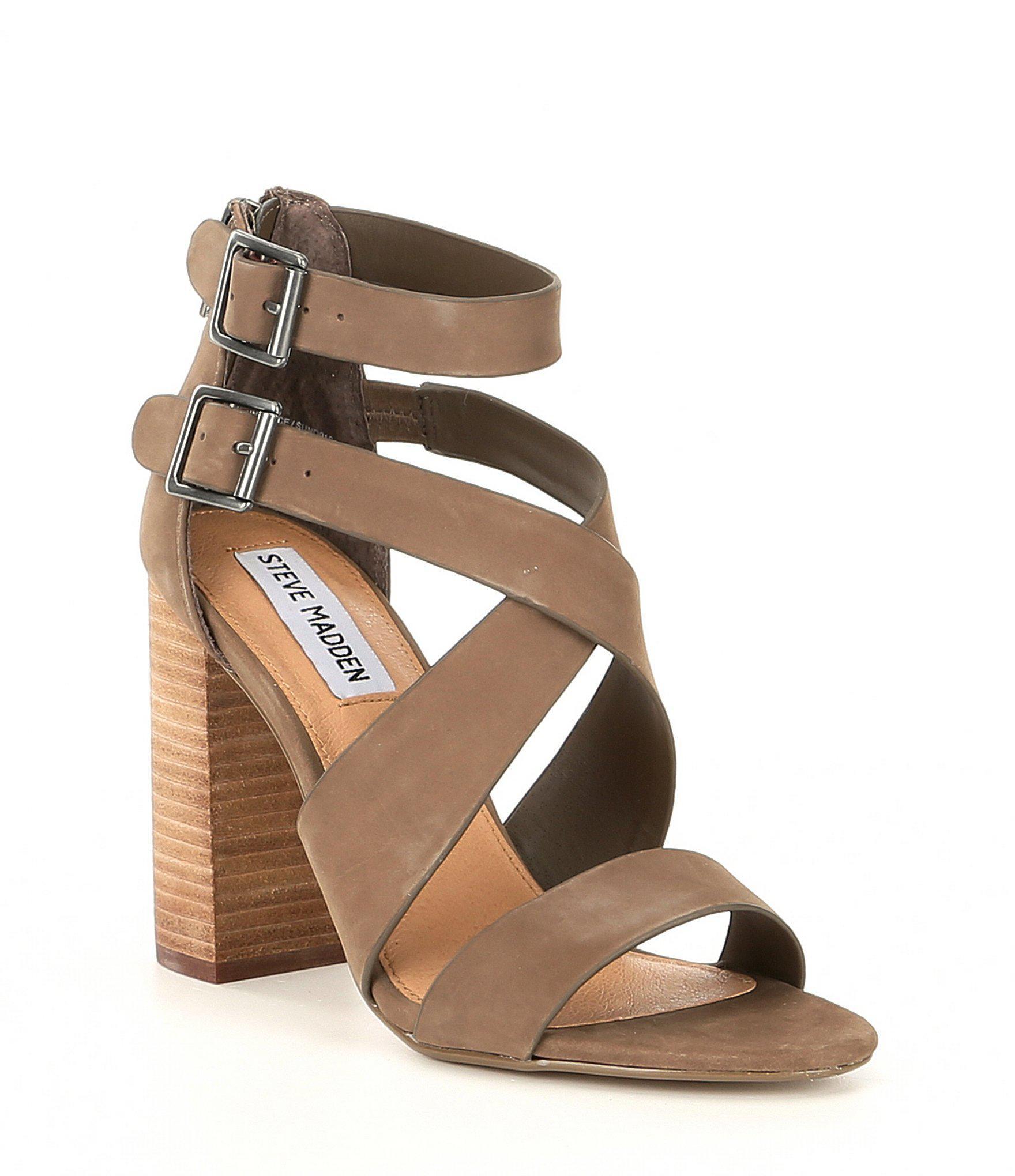 6d15d8b2c42 Lyst - Steve Madden Sundance Suede Ankle-strap Sandals in Brown