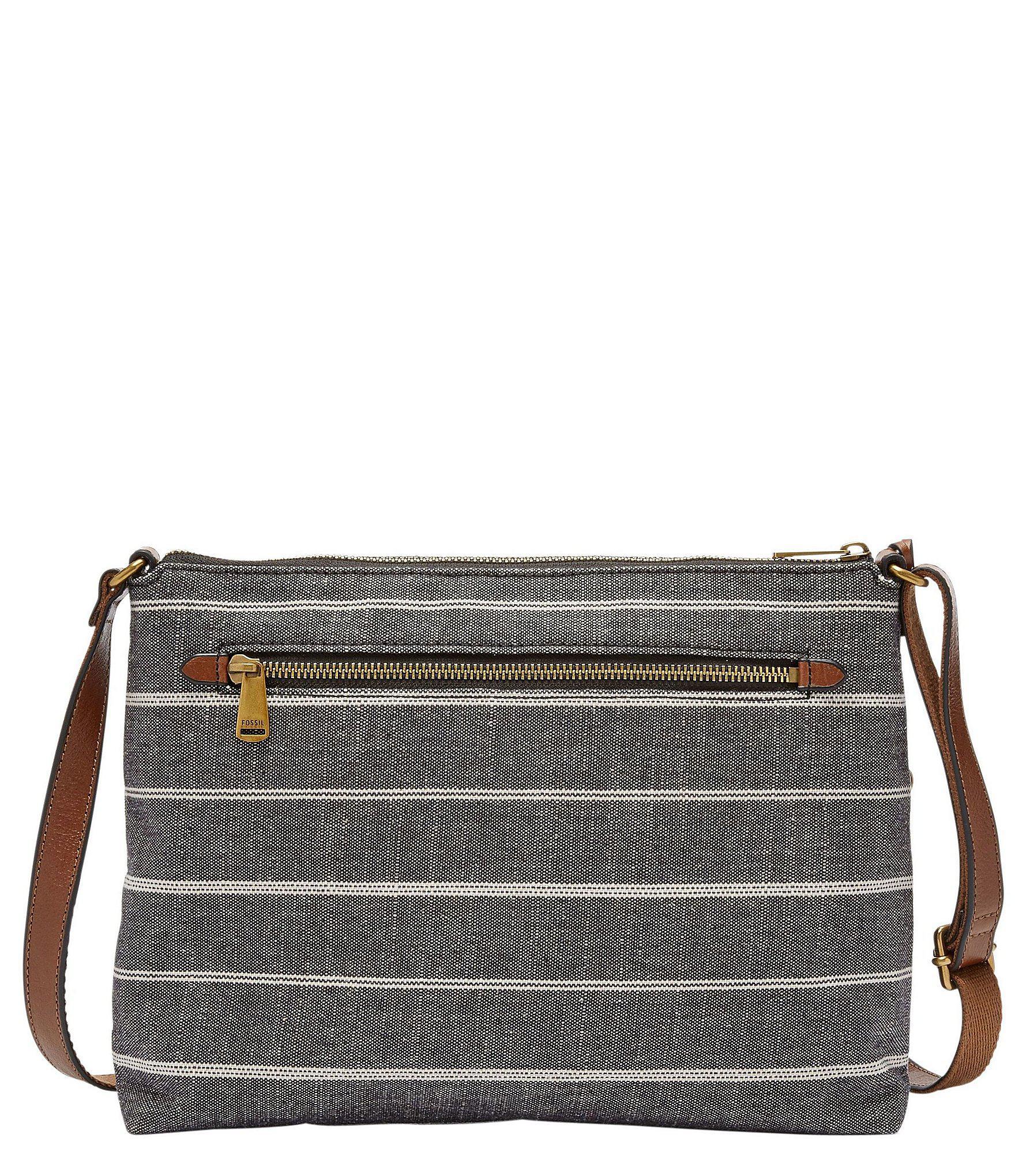 Fossil - Gray Kinley Striped Cross-body Colorblock Bag - Lyst. View  fullscreen 4e98fa6ef75c5