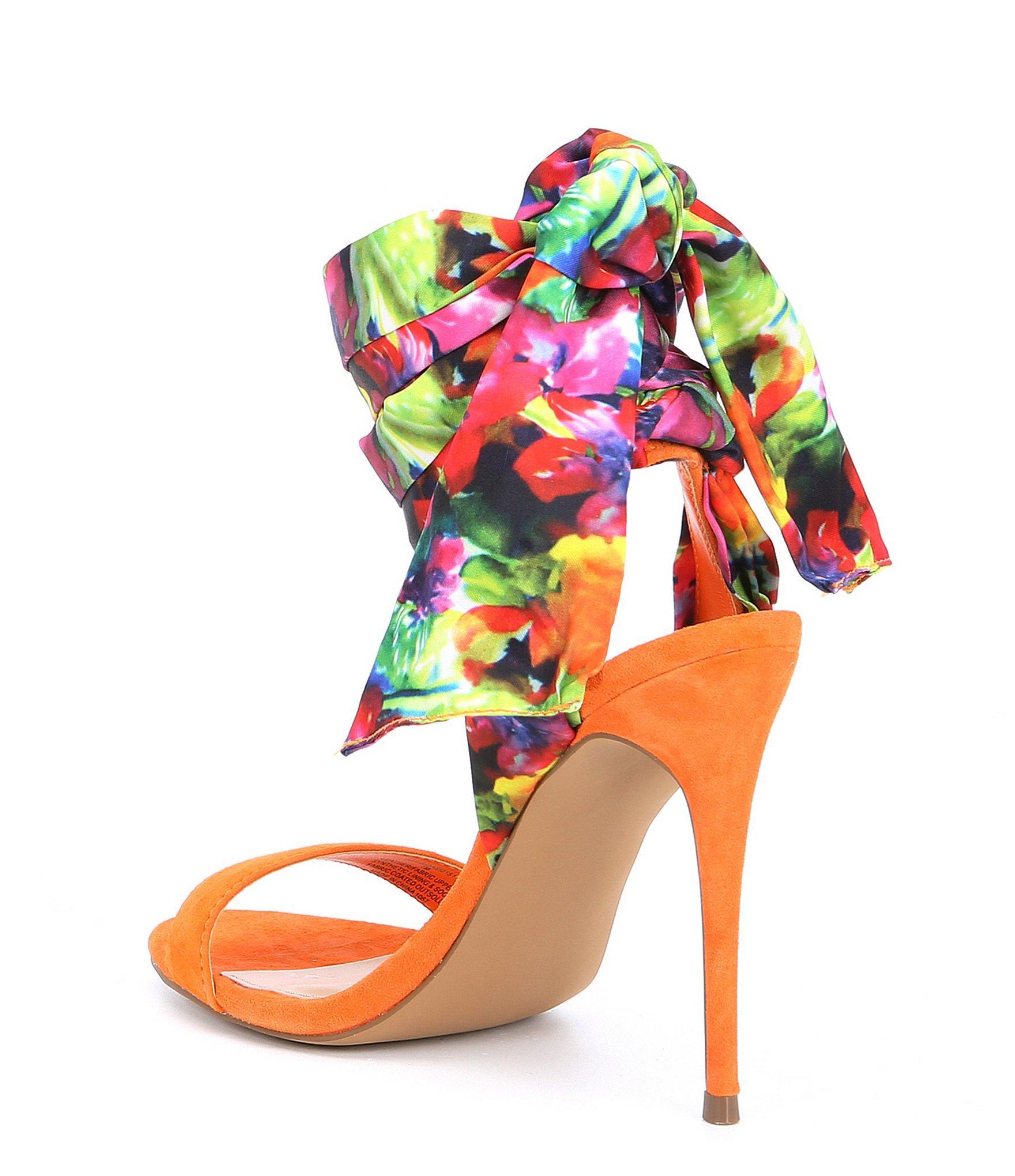 558bad3554c Steve Madden Multicolor Oasis Floral Wrap-up Stiletto Sandals
