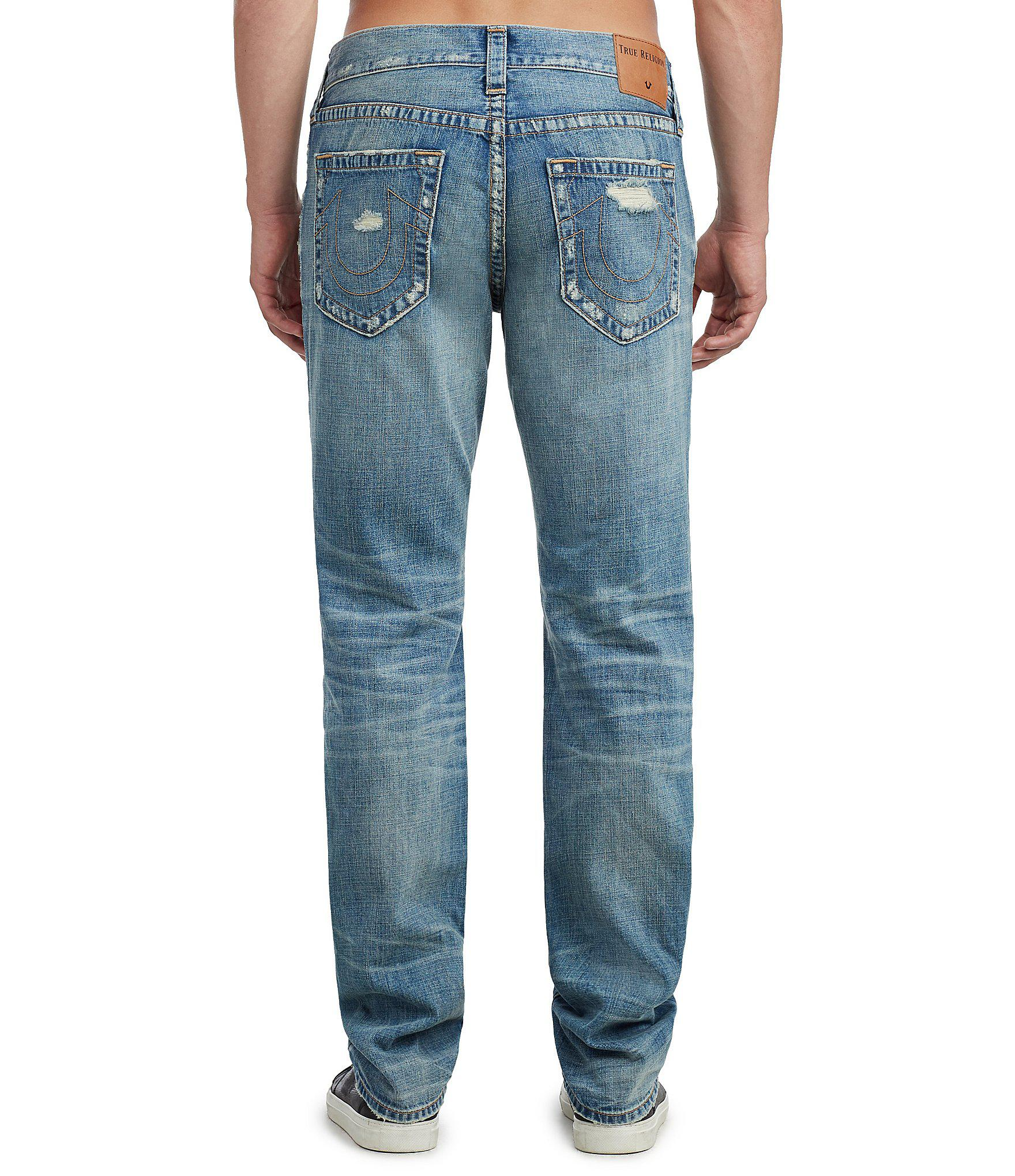 a36a96cb7 Lyst - True Religion Geno Damages Slim Straight Jeans in Blue for Men