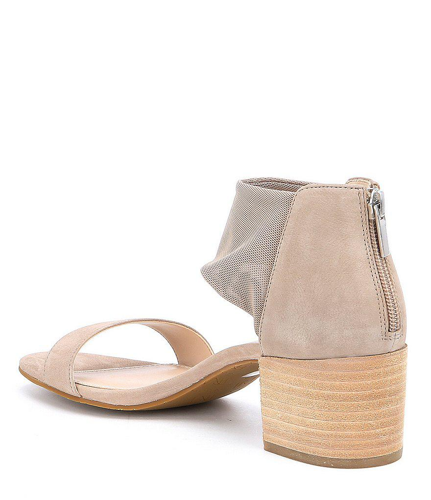 Pelle Moda Alden Nubuck Leather Ankle Strap Block Heel Dress Sandals zicz2SC