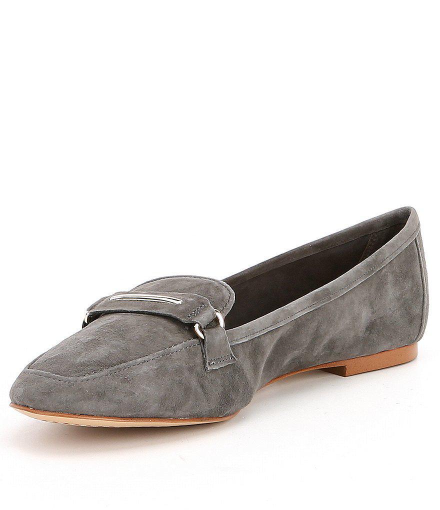 2fcb20a5476 Lyst - Gianni Bini Alistor Suede Loafers in Gray