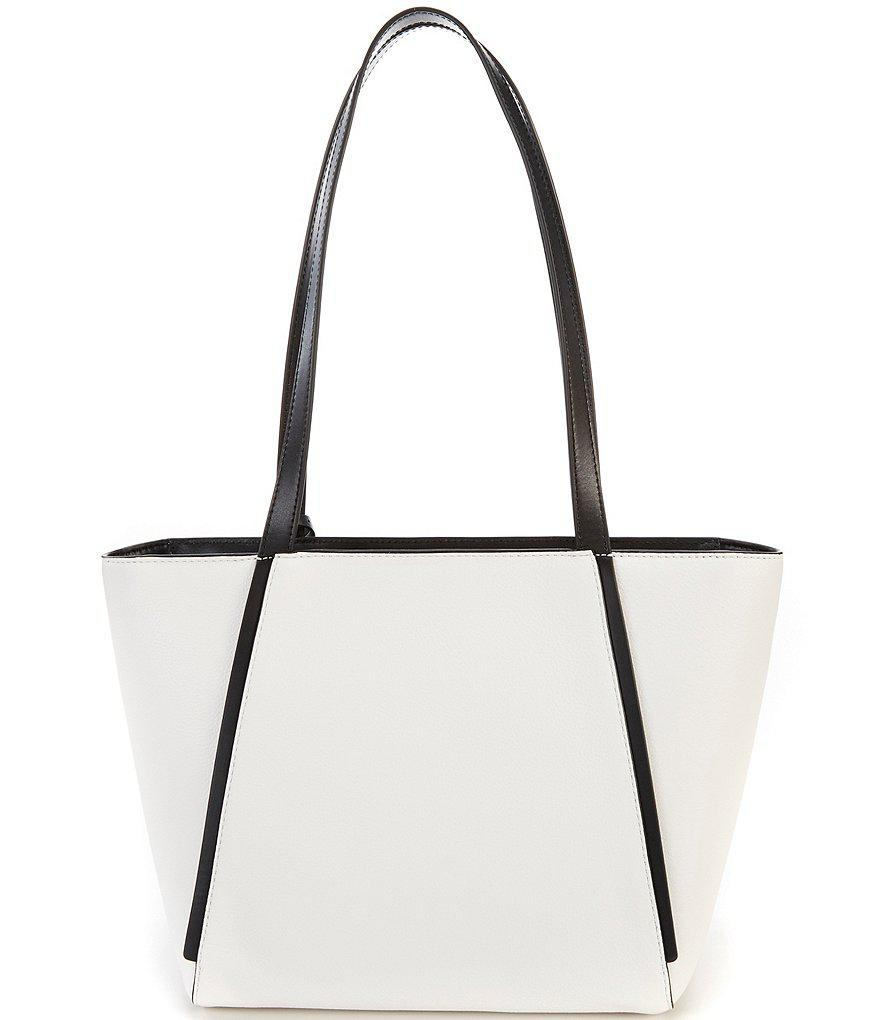 Michael Kors Whitney Small Top Zip Tote (Optic White/Black) Tote Handbags YctPOsO6