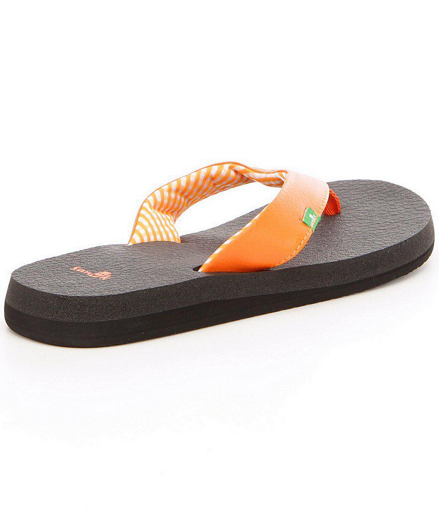 Sanuk Synthetic Yoga Mat Flip Flops In Tan Brown - Lyst-8887
