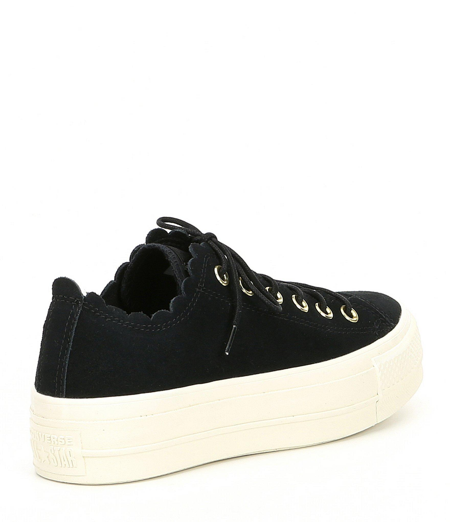 Converse - Black Women s Chuck Taylor All Star Frilly Thrills Platform  Sneakers - Lyst. View fullscreen 67a6043a17b4