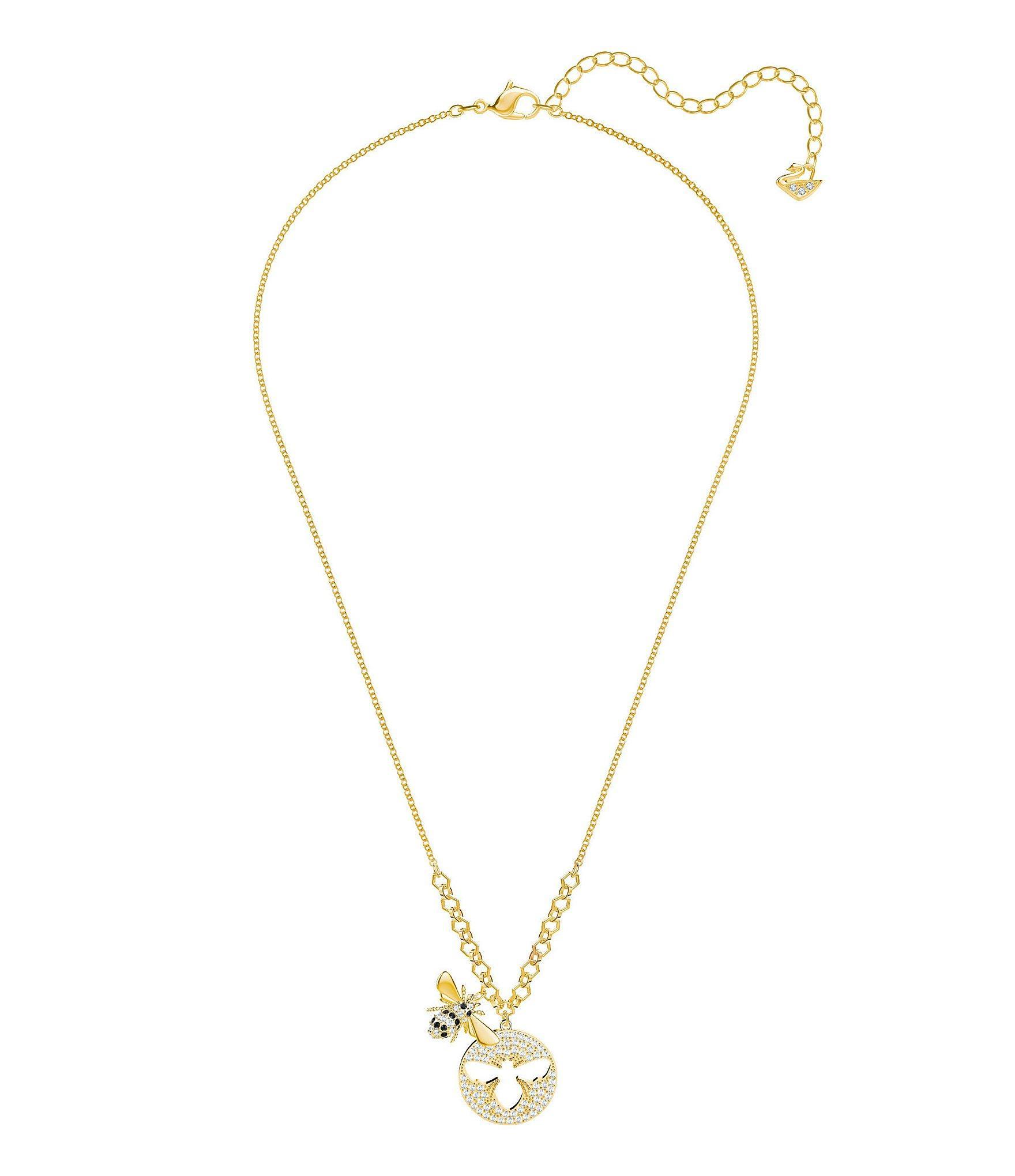 18+1 Brown Crystal Sparkle Spinner Custom Crystal Heart Sophia Necklace