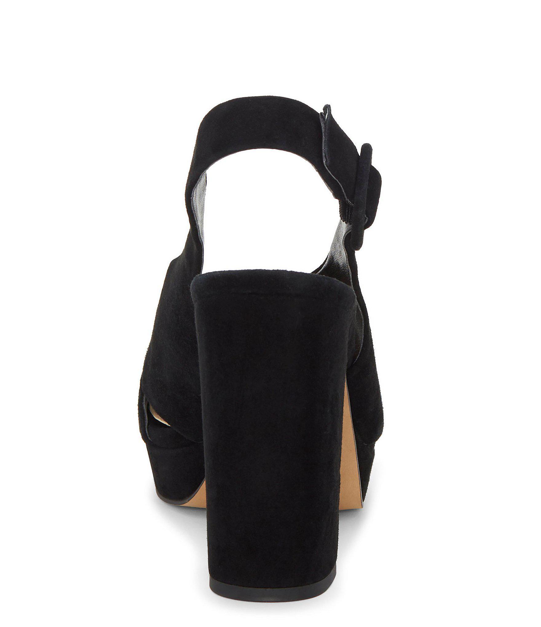 5a4f7b00979 Vince Camuto - Black Slingback Platform Sandal - Lyst. View fullscreen