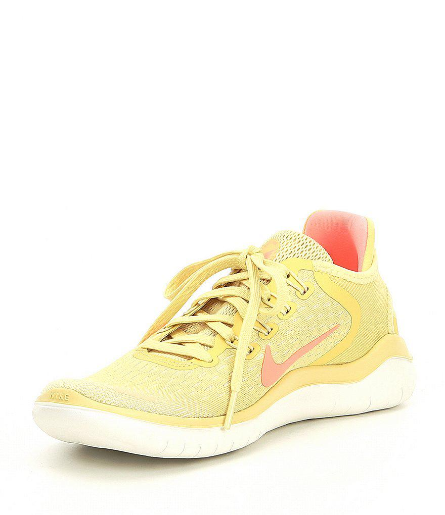 Nike - Yellow Women's Free Rn 2018 Summer Running Shoes - Lyst. View  Fullscreen