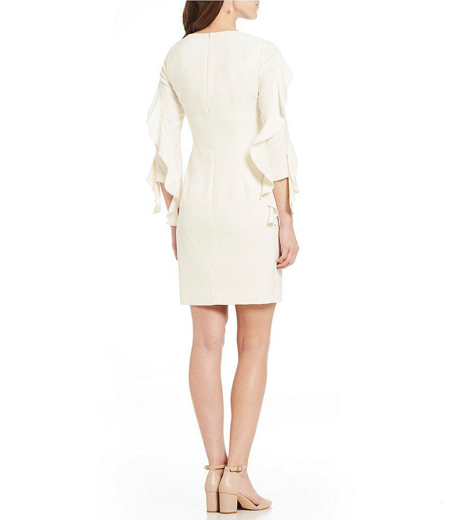 Lyst Antonio Melani Bjorn Ruffle Sleeve Dress In White