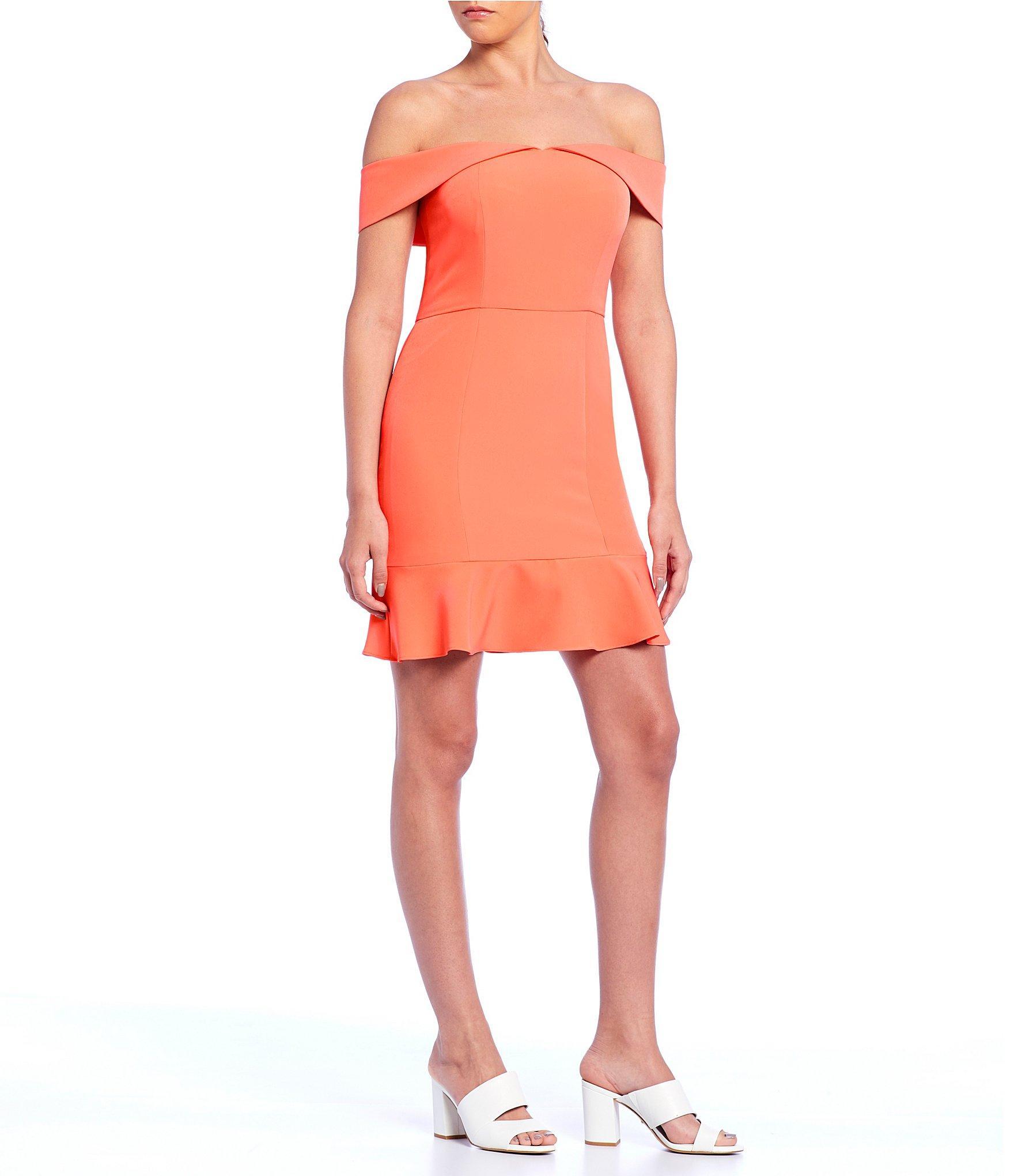 d2c89668db Gianni Bini. Women s Suze Off-the-shoulder Ruffle Dress