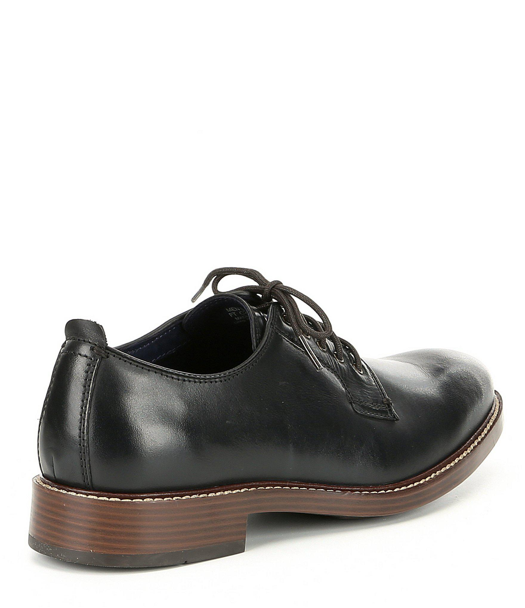 Cole Haan Men/'s Kennedy Grand Postman Leather Lace-Up Oxfords Black