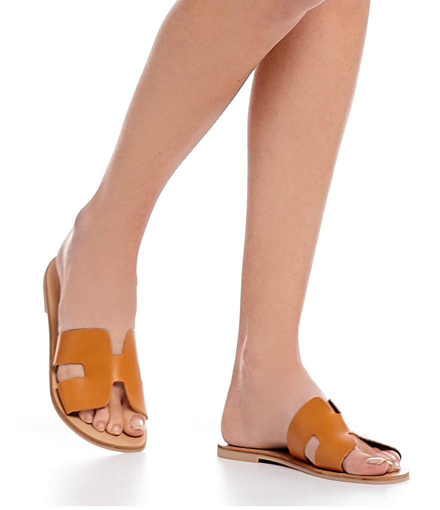 47020937e2c Steve Madden Steven By Greece Leather Sandals in Brown - Lyst